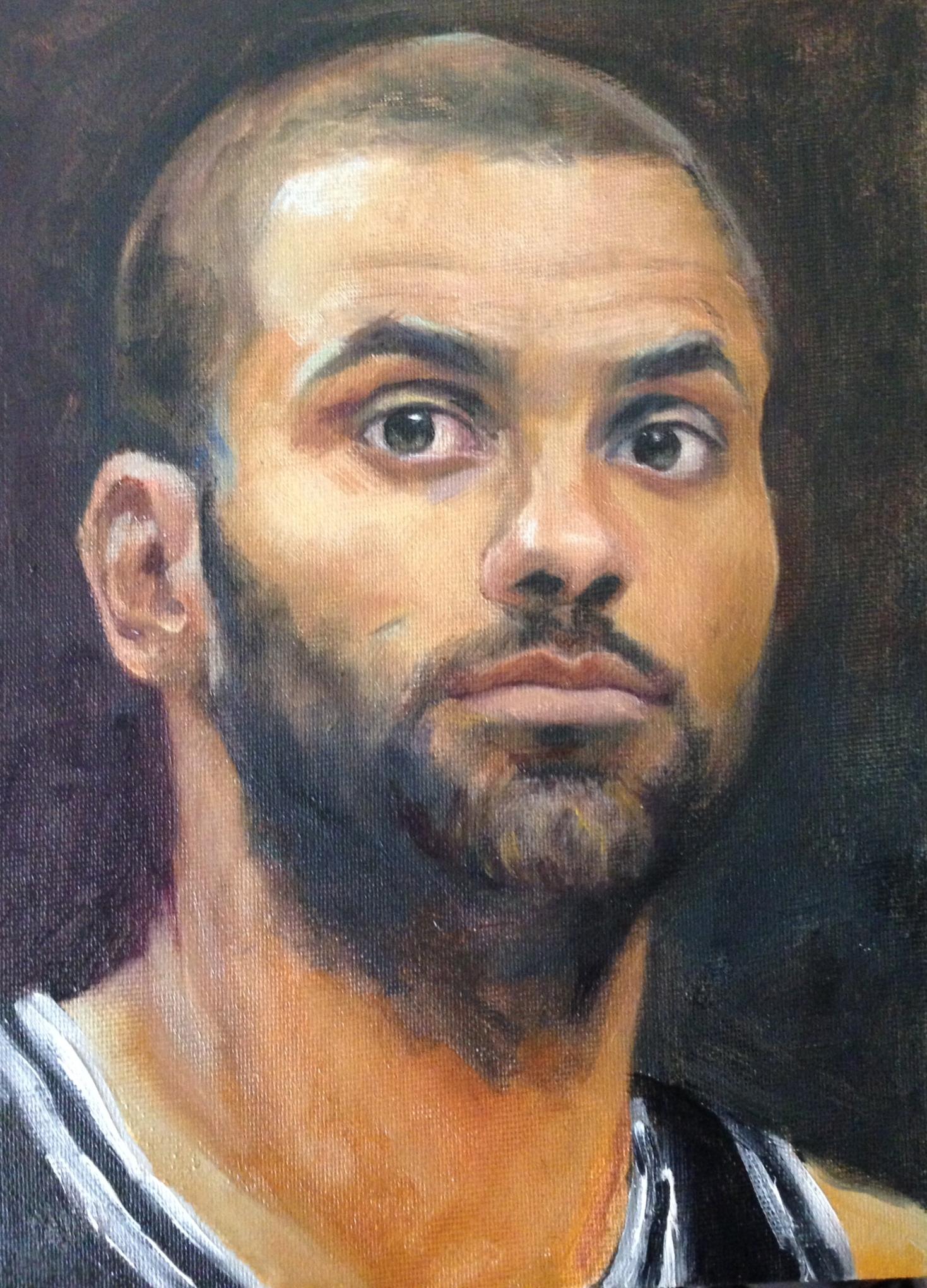Tony Parker - oil on canvas