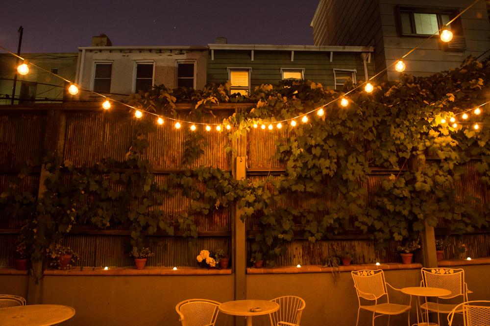 Tuffet's enchanting backyard.