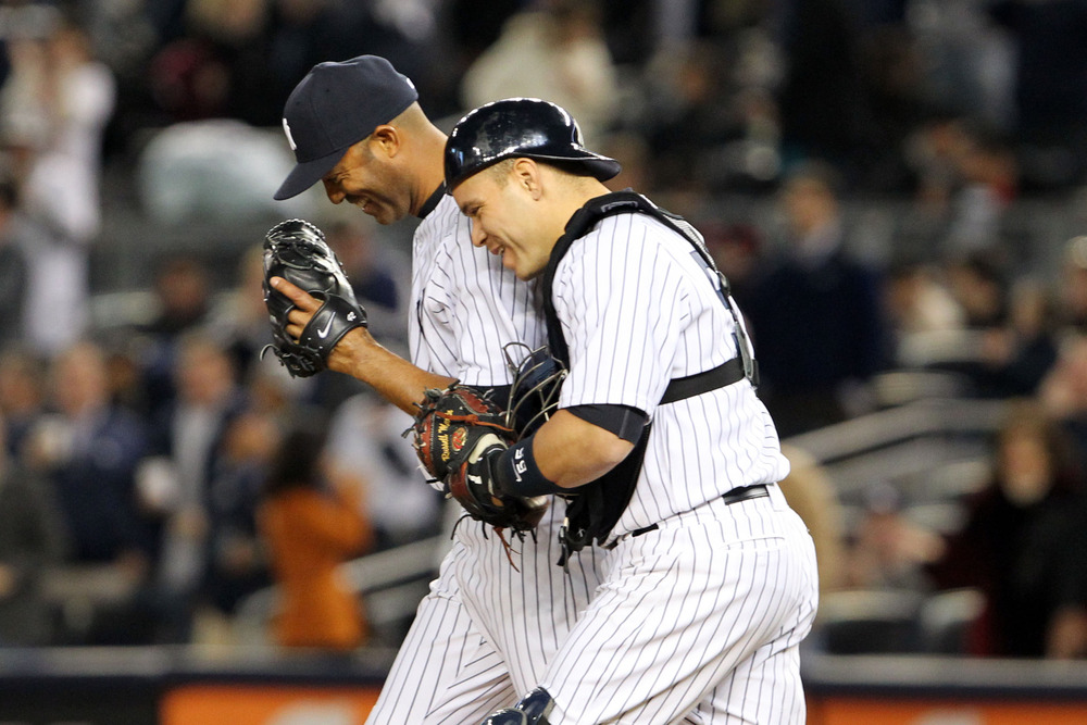 Mariano Rivera and Russell Martin
