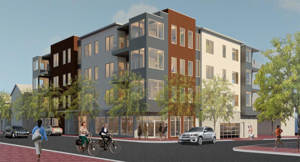 Artist's rendering of 118 on Munjoy Hill condo complex.