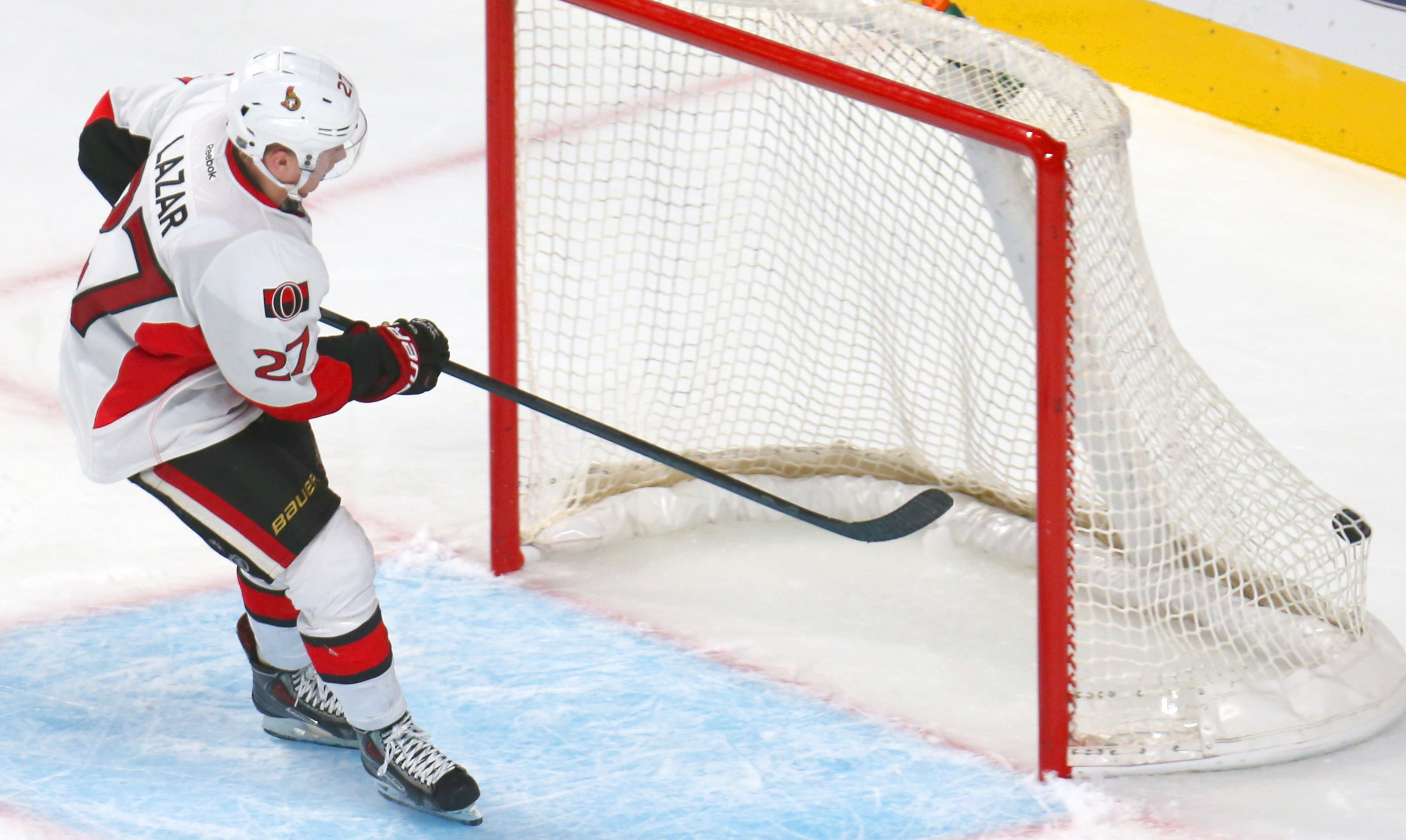 Curtis Lazar seals Ottawa's 4-2 win against Montreal on Saturday night and his place on the team