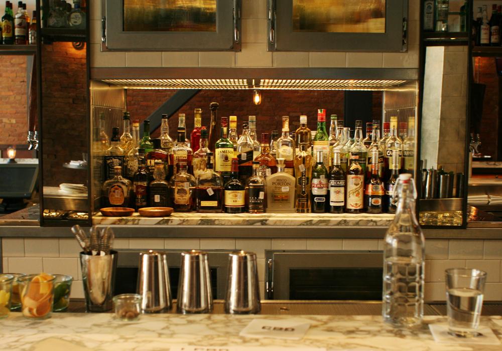 The bar at CBD Provisions.