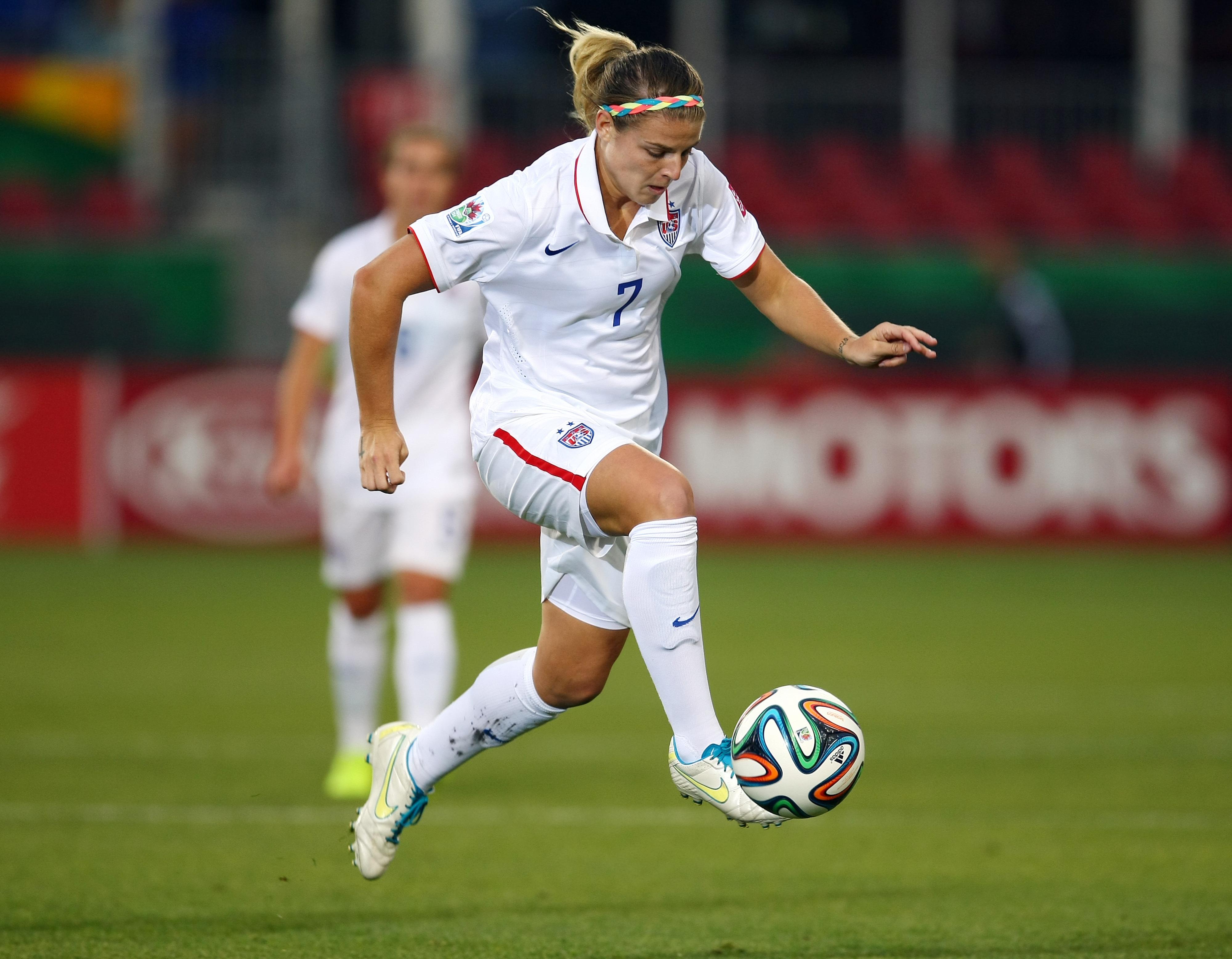Florida's Savannah Jordan pictured playing for the United States U-23 Team