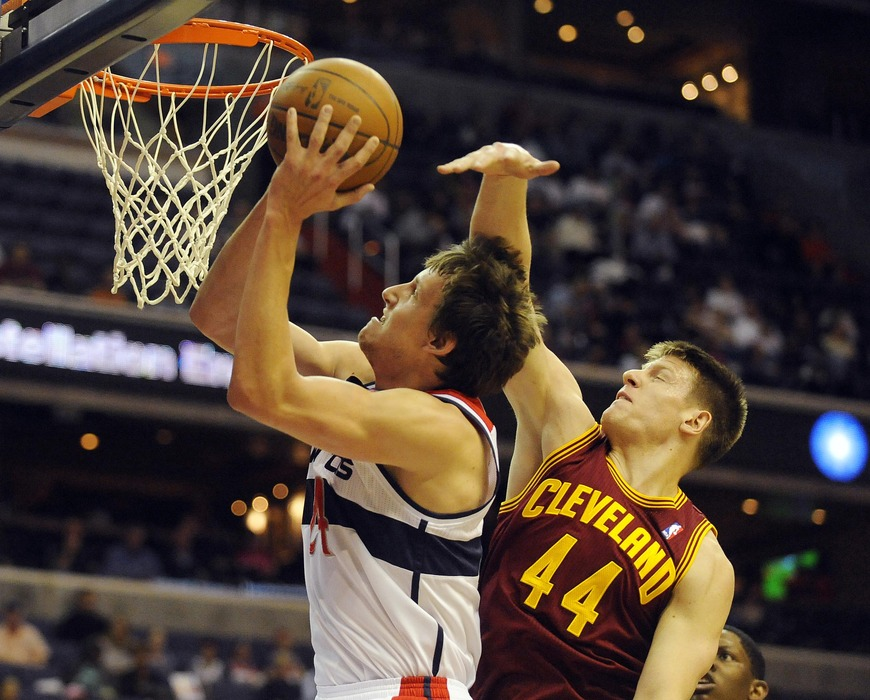 Here is a picture of Jan Vesely scoring easily on Luke Harangody
