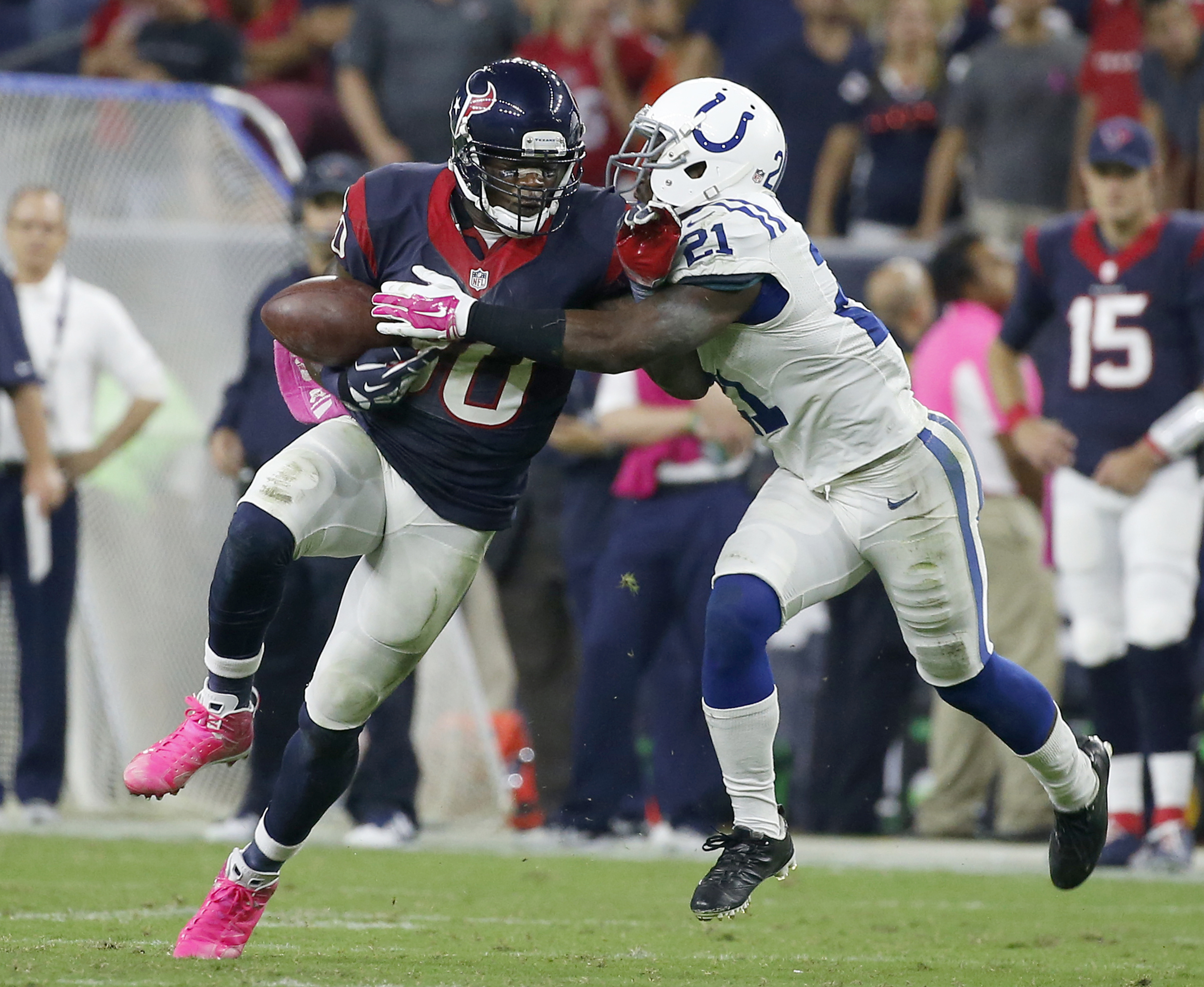 Andre Johnson's costly fumble was only upstaged by... Ryan Fitzpatrick's costly fumble in Houston's 33-28 loss to Indianapolis Thursday night