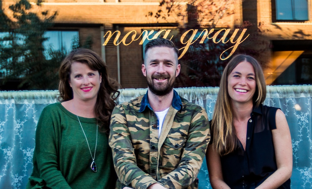 Emma Cardarelli, Ryan Gray and Lisa McConnell of Nora Gray
