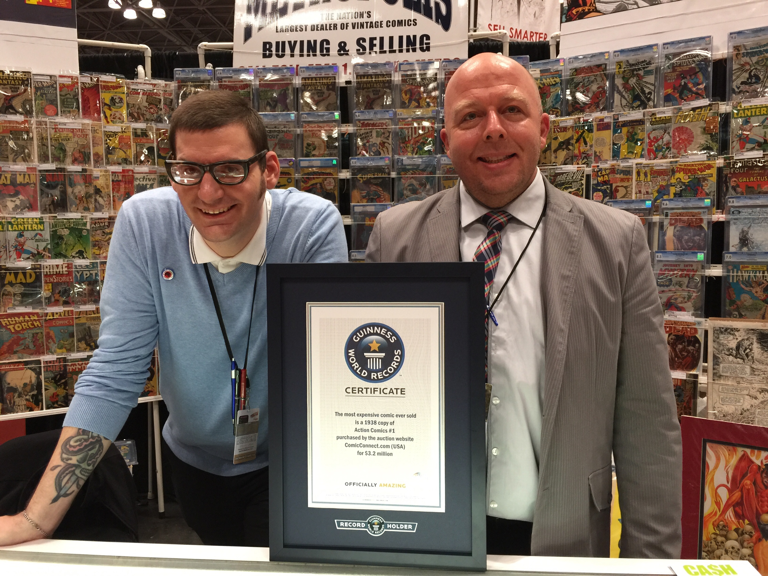 These guys brought a $3.2M comic to New York Comic Con