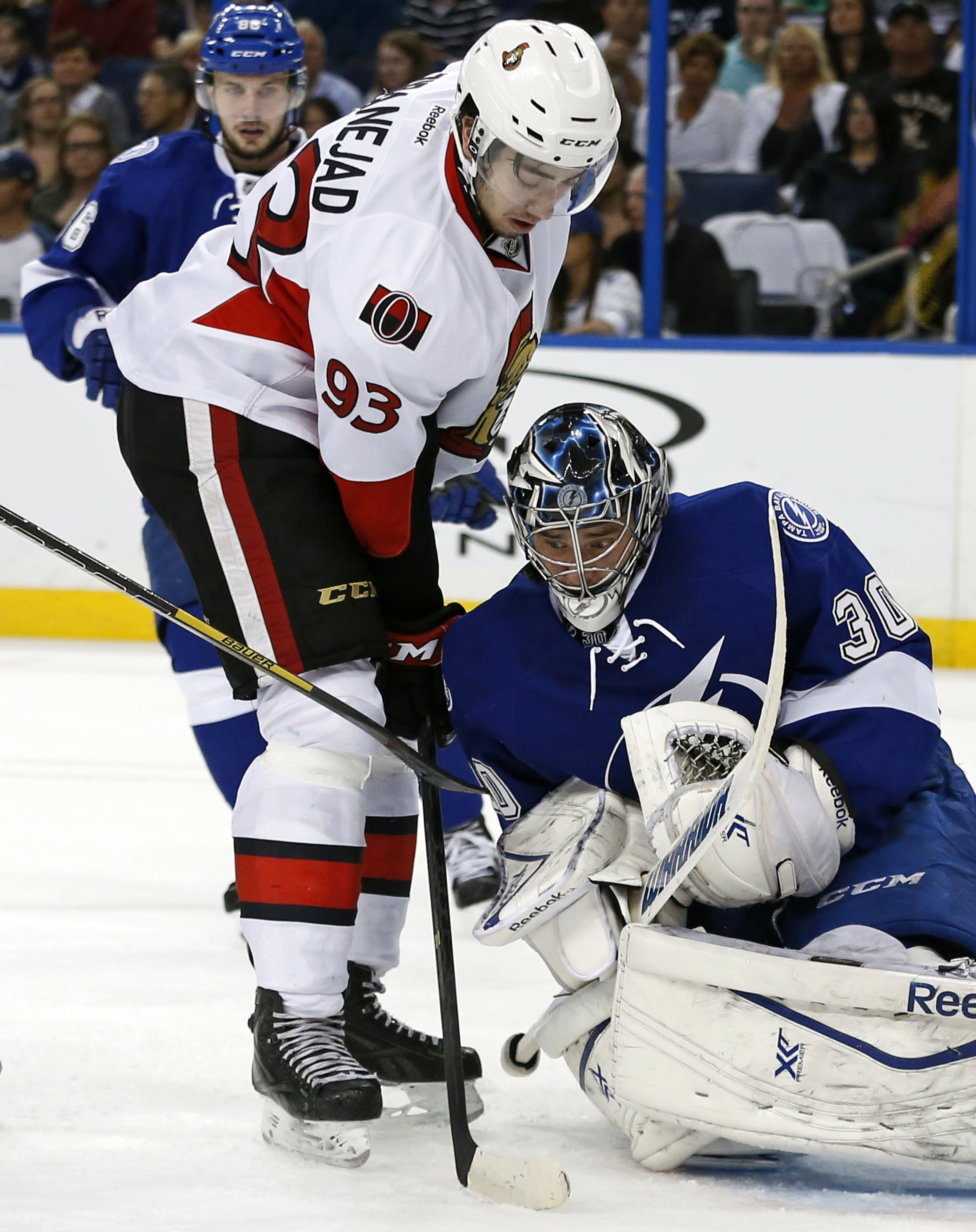 The one and only time Zibanejad felt tall next to Ben Bishop