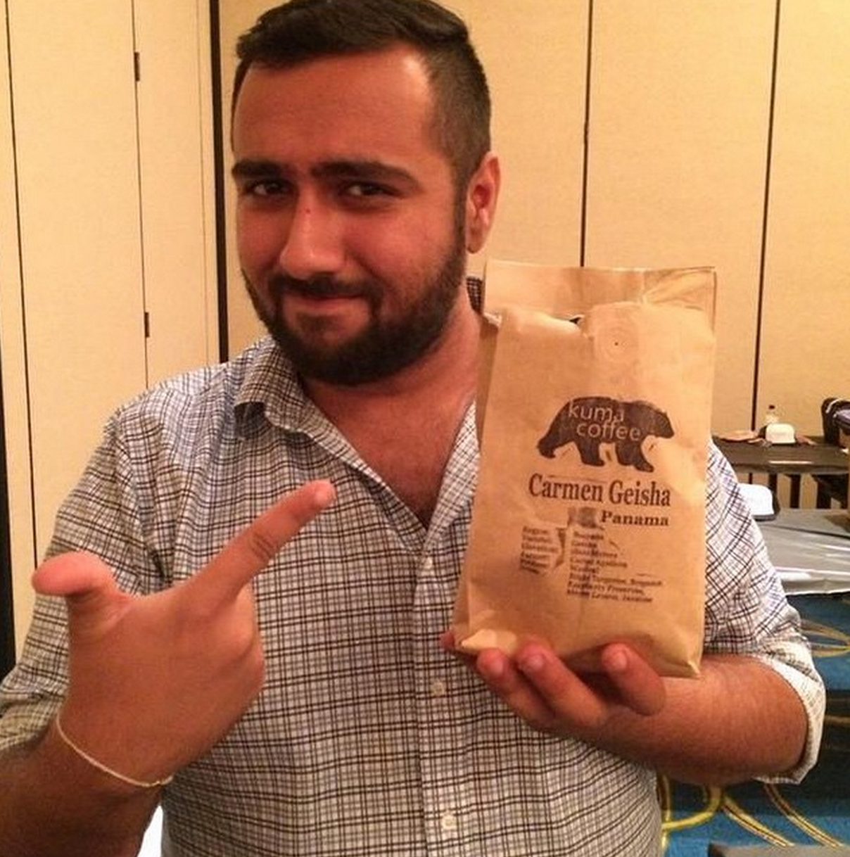 Saini used coffee from local roaster Kuma in the NW Brewers Cup competition.