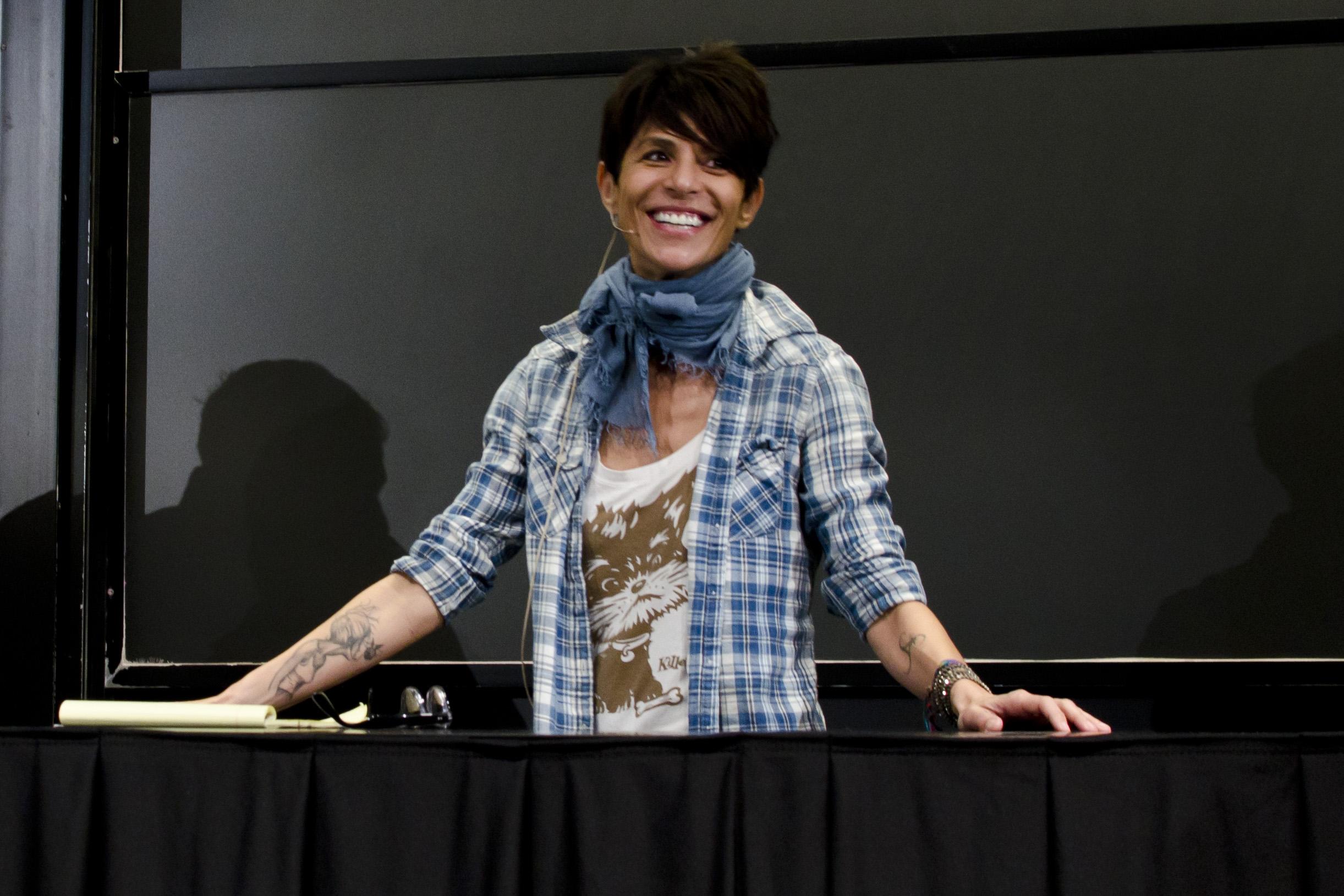 Dominique Crenn at Harvard, October 13, 2014