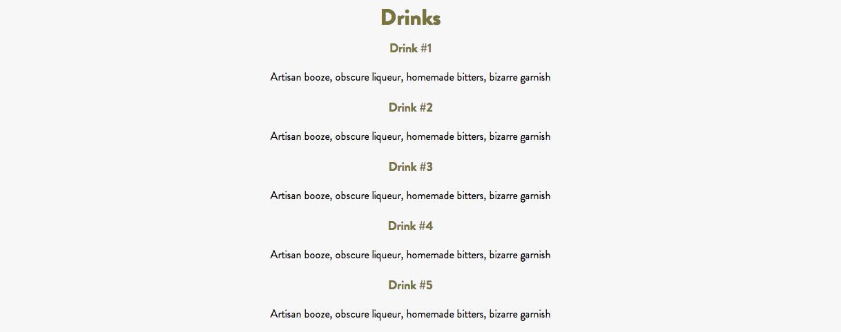 The current drink list at the upcoming Ames Street Deli.