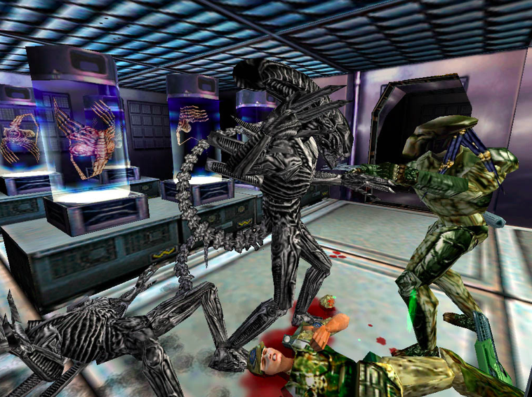 You need to get a free copy of Aliens vs Predator Classic 2000