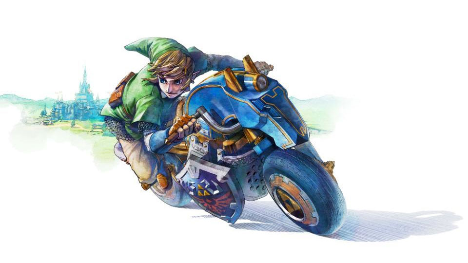 Check out Link's sweet ride in Mario Kart 8
