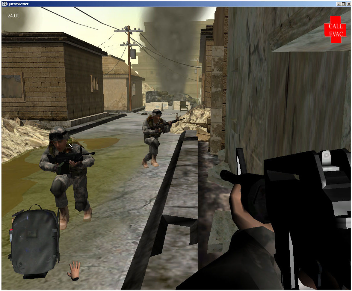 Using virtual reality to desensitize troops