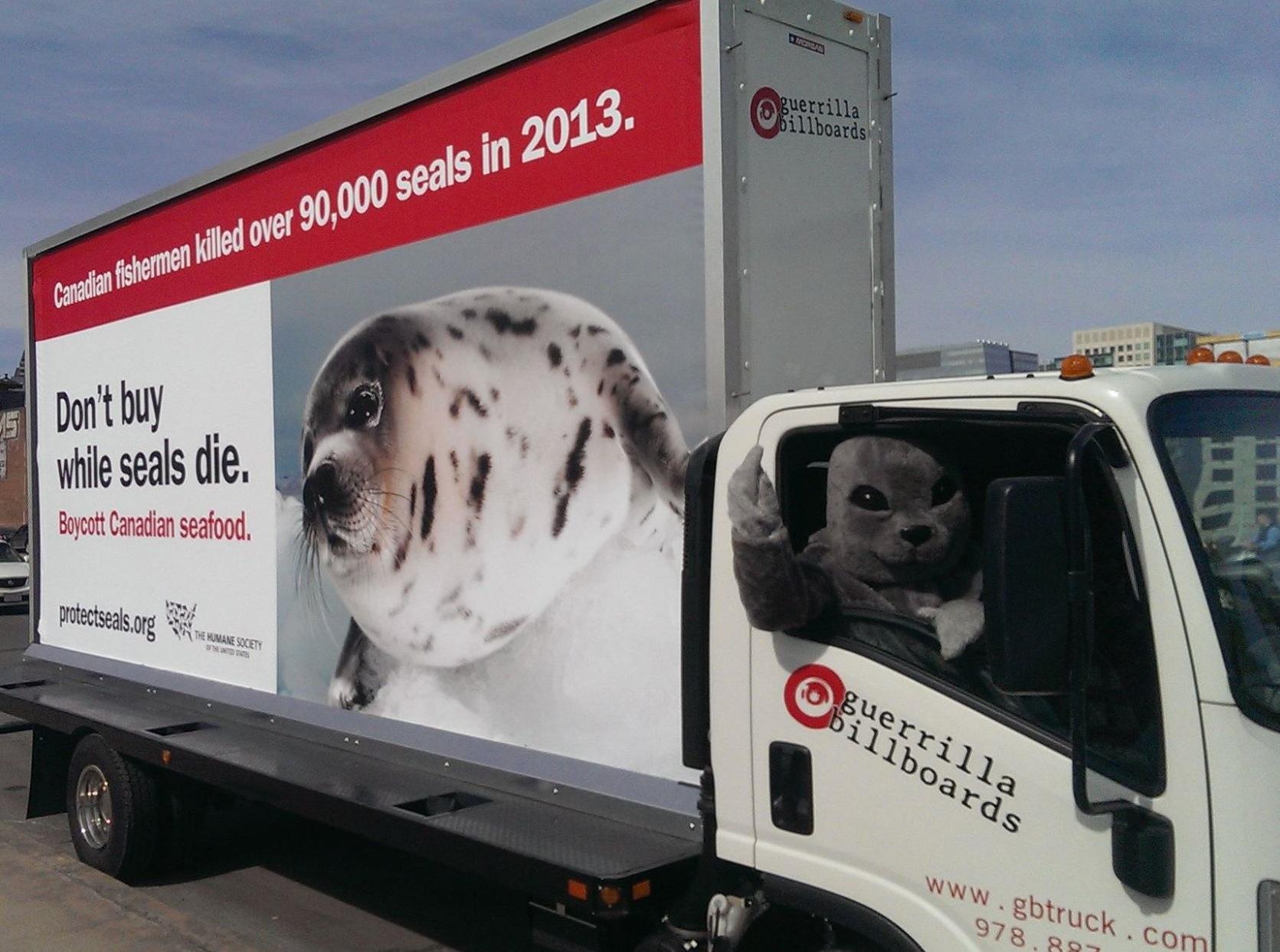 U.S. Humane Society truck calls for Canadian seafood boycott