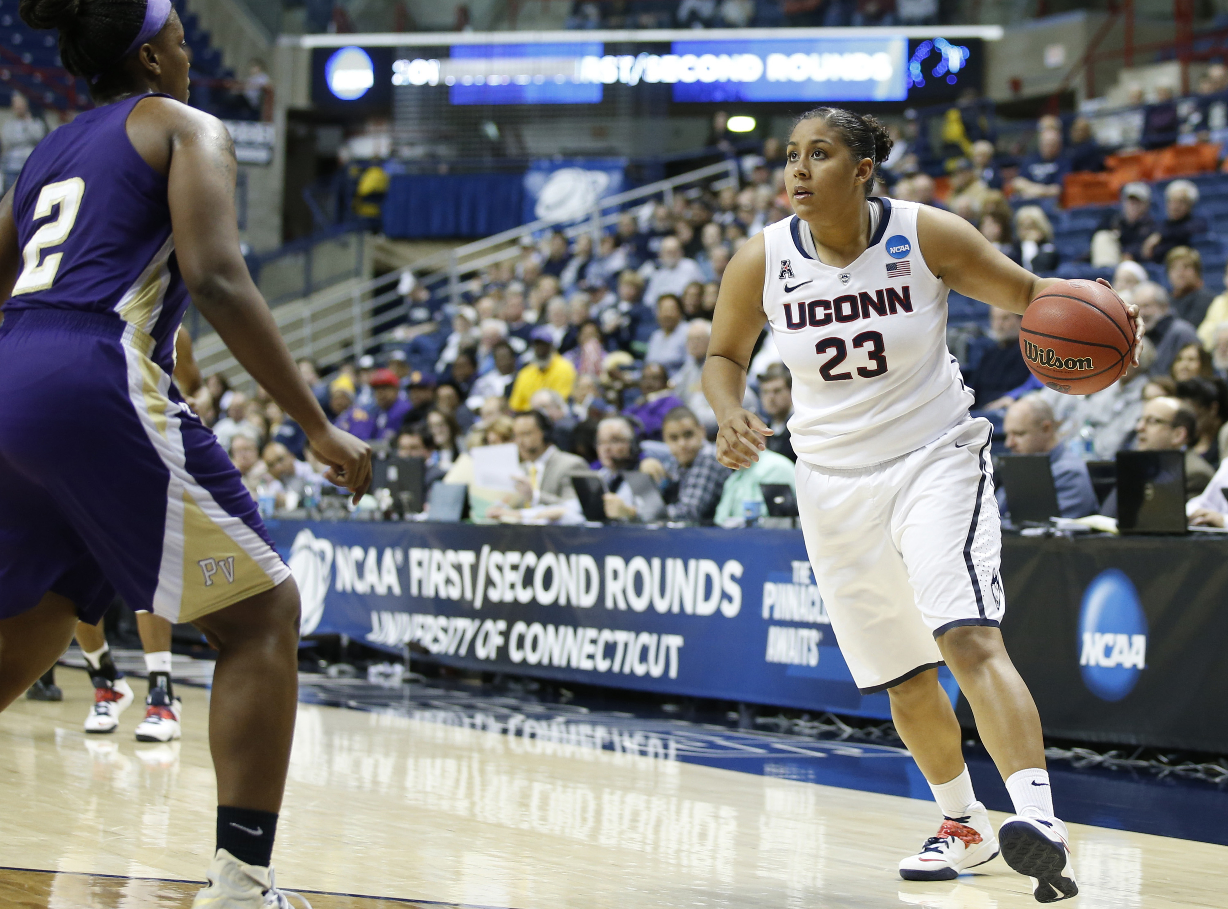 Kaleena Mosqueda-Lewis is widely considered the top prospect in the draft, but do WNBA GMs agree?