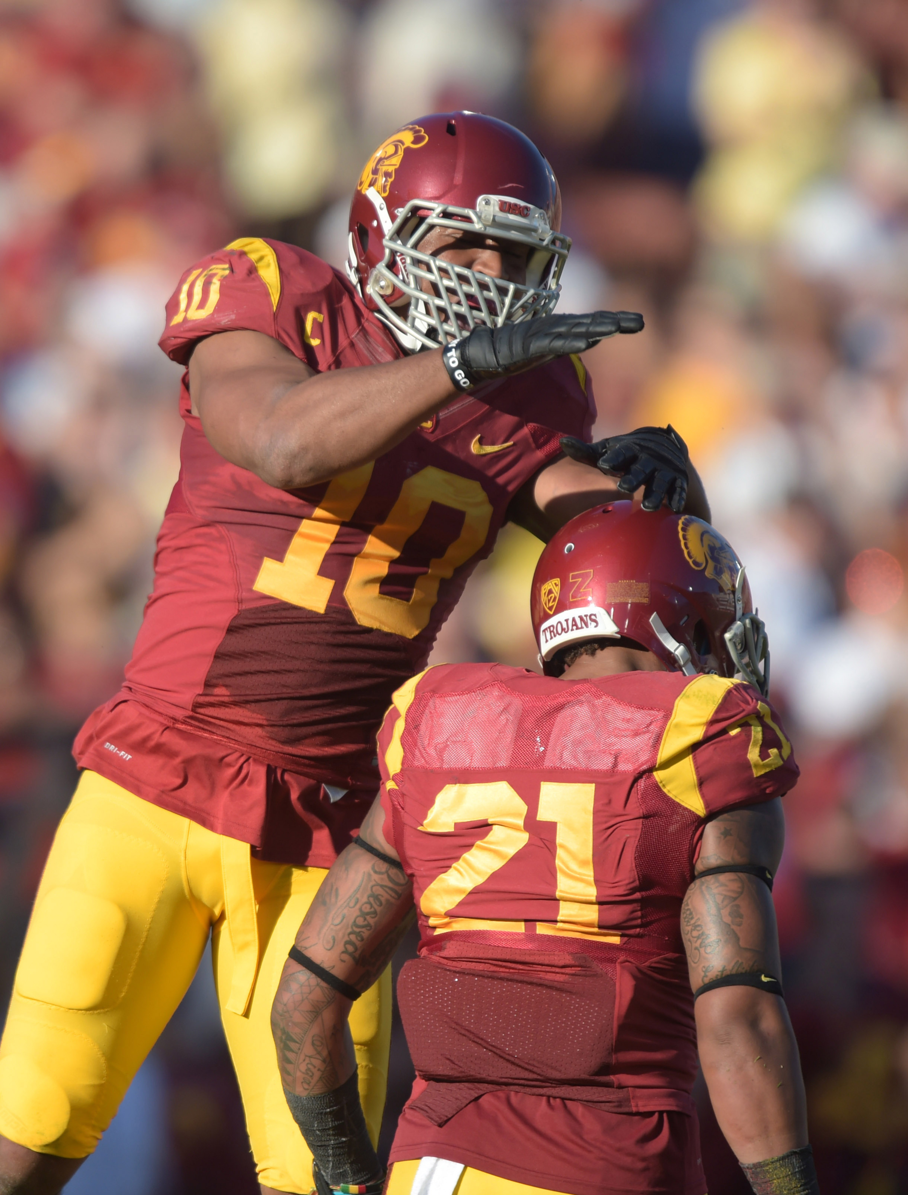 Pullard leads the Trojans' in tackles, what else is new.