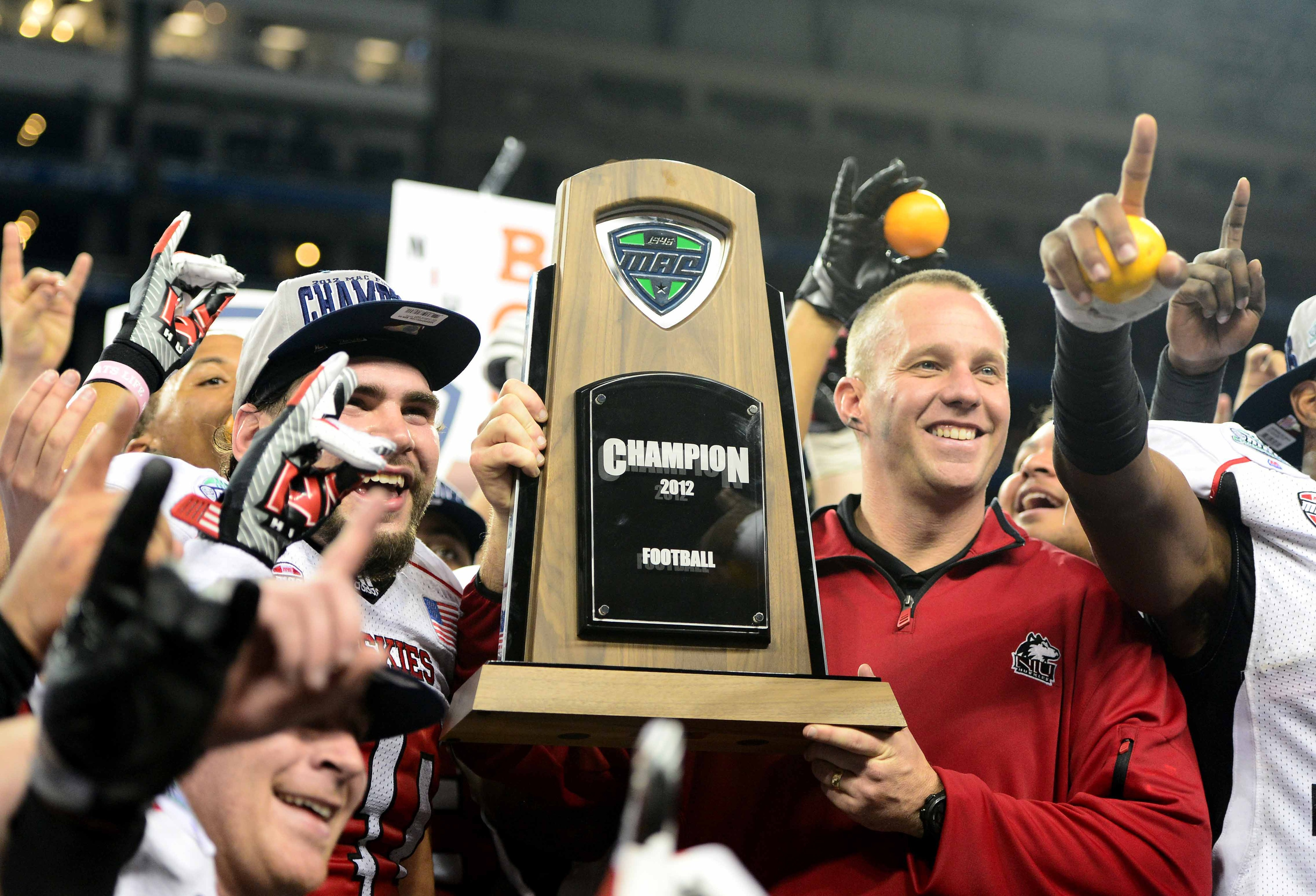 NIU Huskies win back-to-back MAC Championships and win their school-record 12th game in a season.