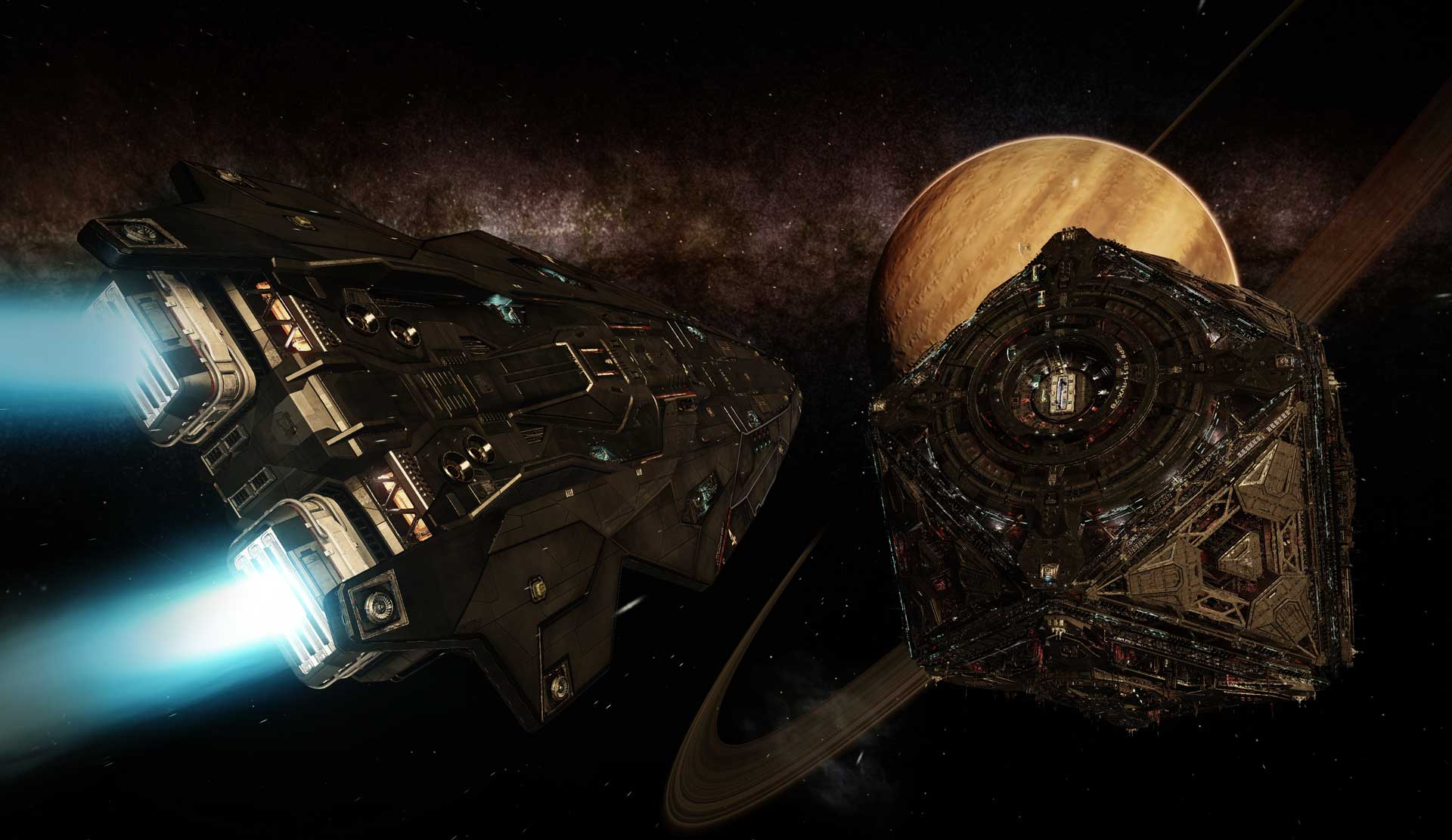 Makers of Elite: Dangerous not responsible for your death in this docking contest
