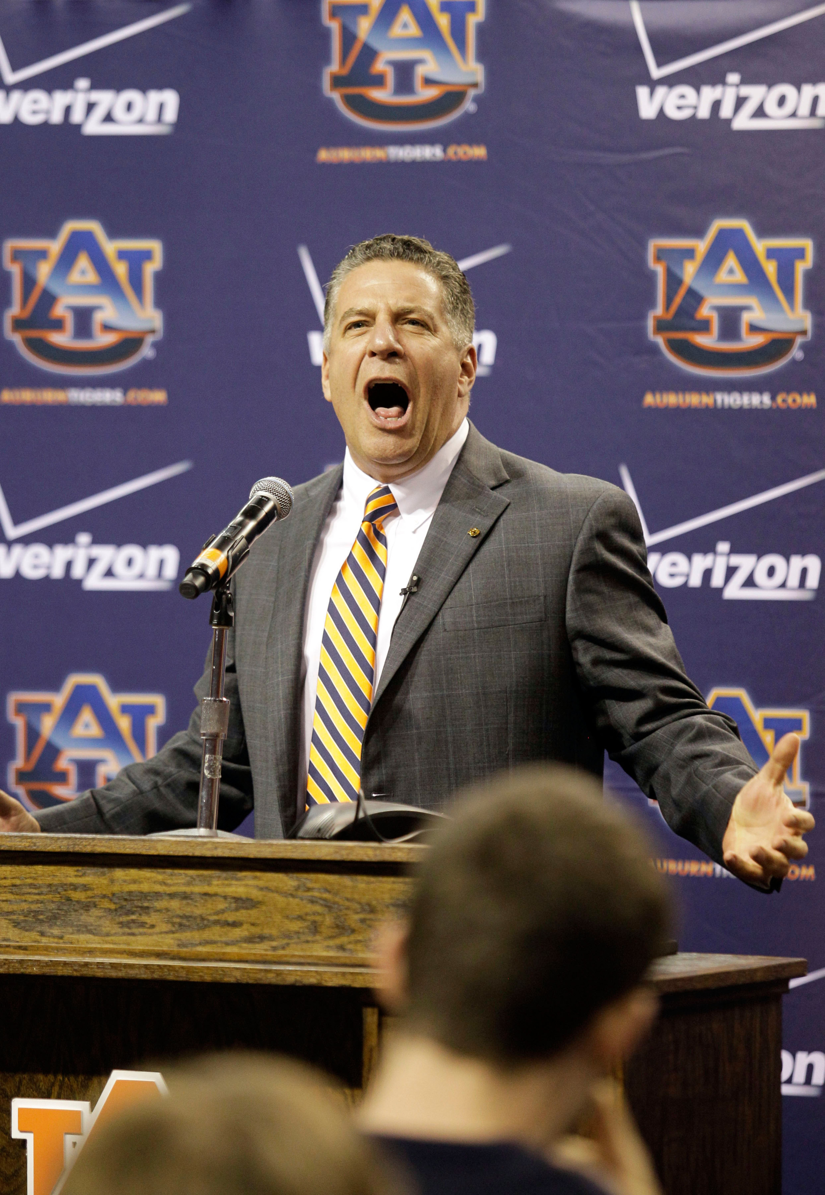 Fun fact: Bruce Pearl's natural speaking voice is a yell.