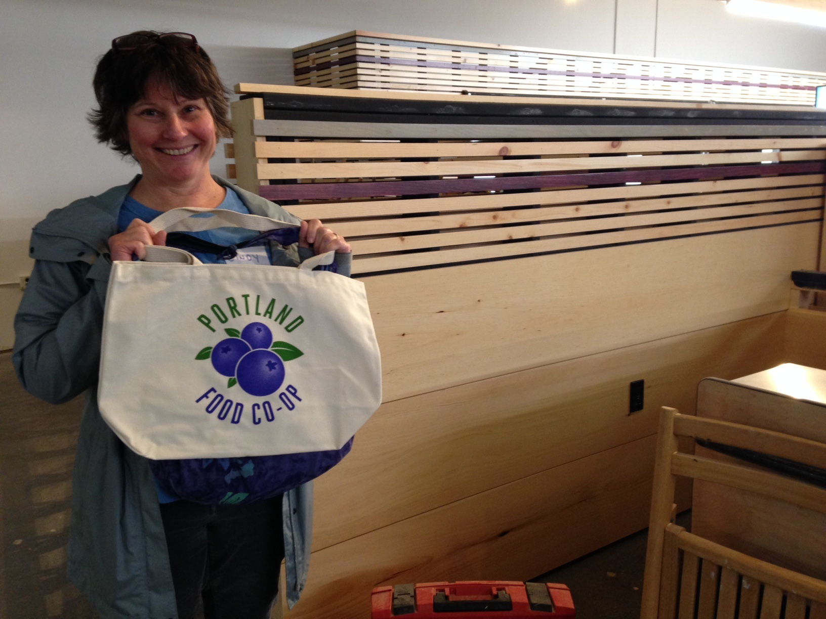 Cindy Hyman became the 2000th member-owner of the soon-to-open Portland Food Co-op Tuesday, October 21.