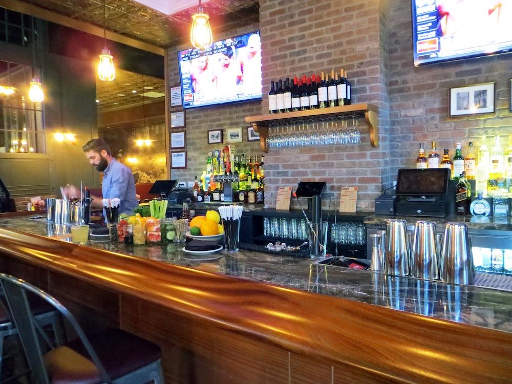 The bar at Denny's.