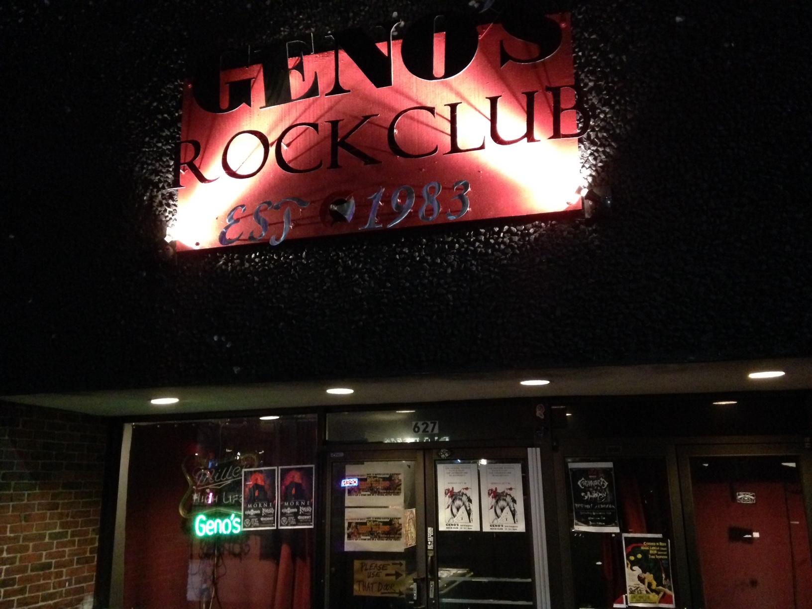 Geno's Rock Club, established in 1983.