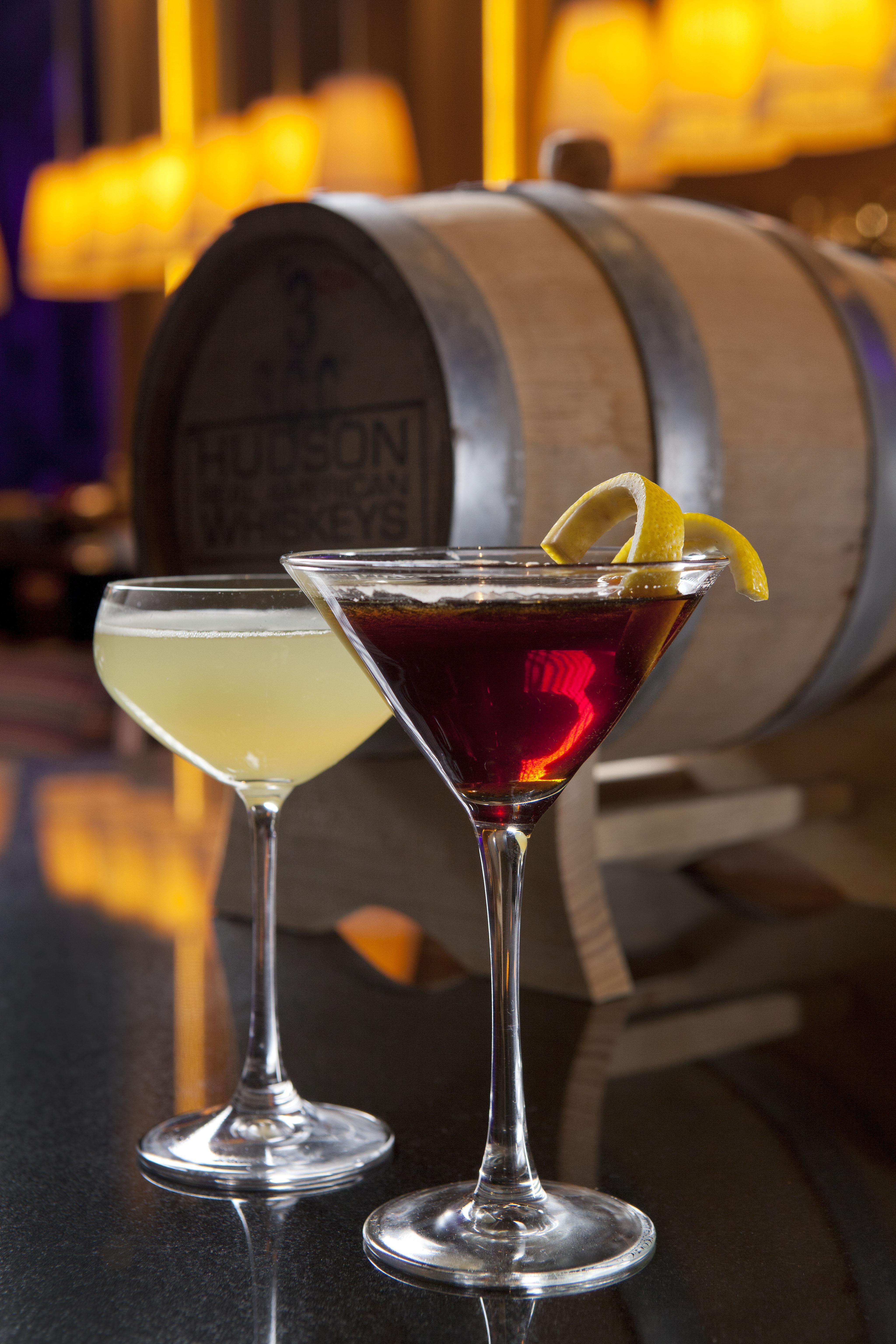 Barrel-aged cocktails at Sage.