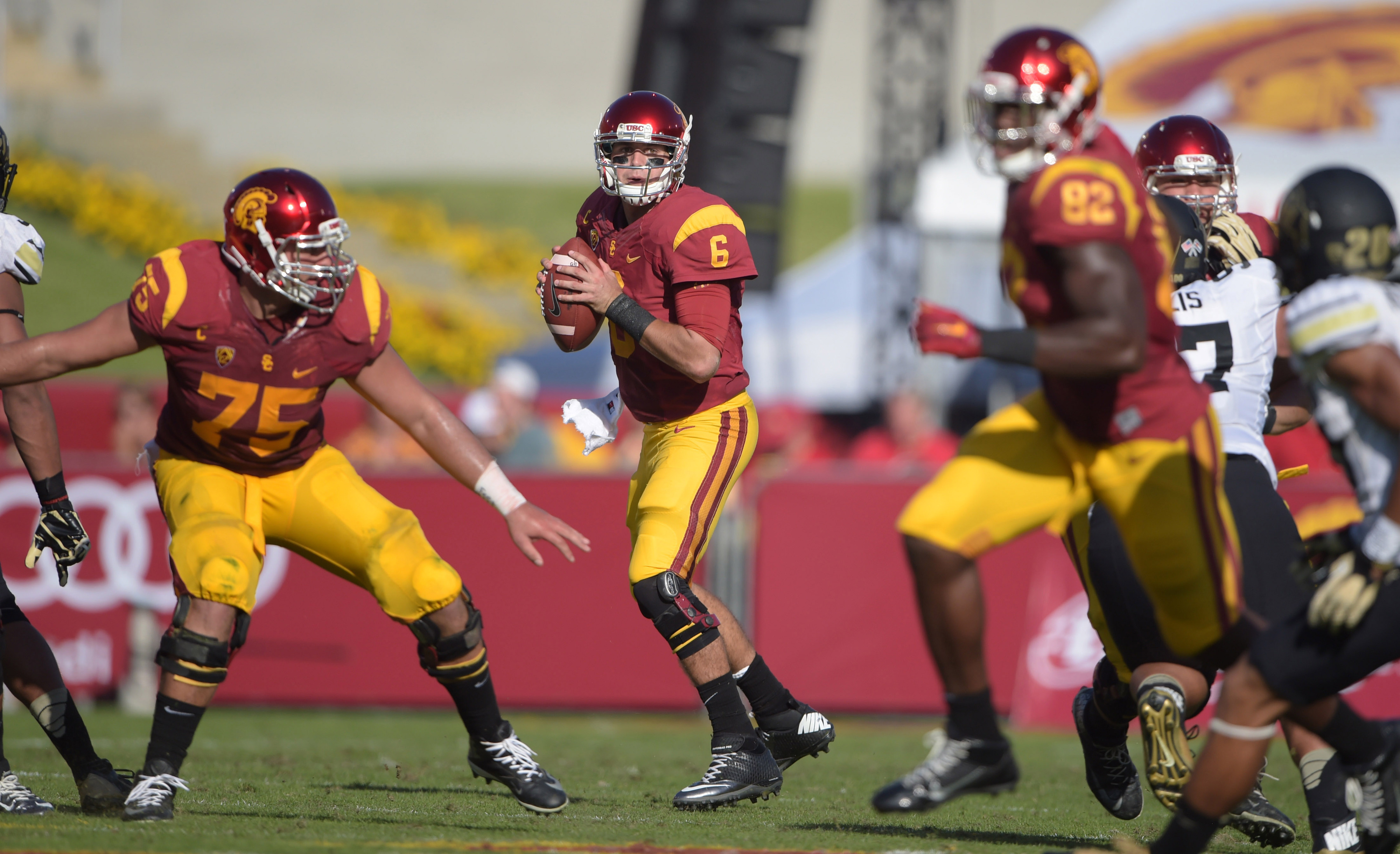 Junior quarterback Cody Kessler leads No. 20 USC into Rice-Eccles Stadium tonight to take on the No. 19-ranked Utah Utes in a Pac-12 South showdown.