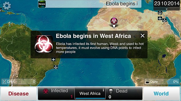 Ebola scare drives sharp rise in Plague Inc. downloads