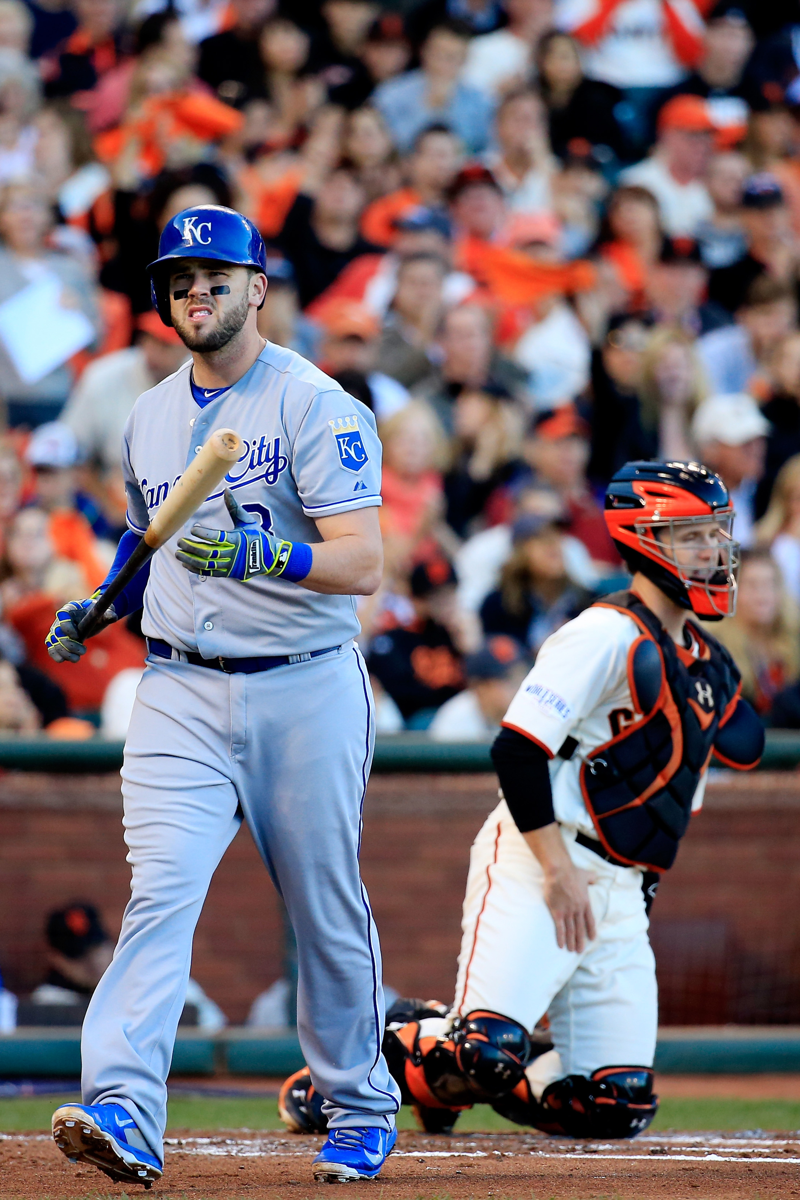 Moose-tified: Mike Moustakas strikes out.