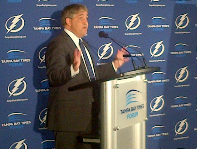 Tampa Bay Lightning owner Jeff Vinik will be one of six owners talking directly with players on Tuesday.