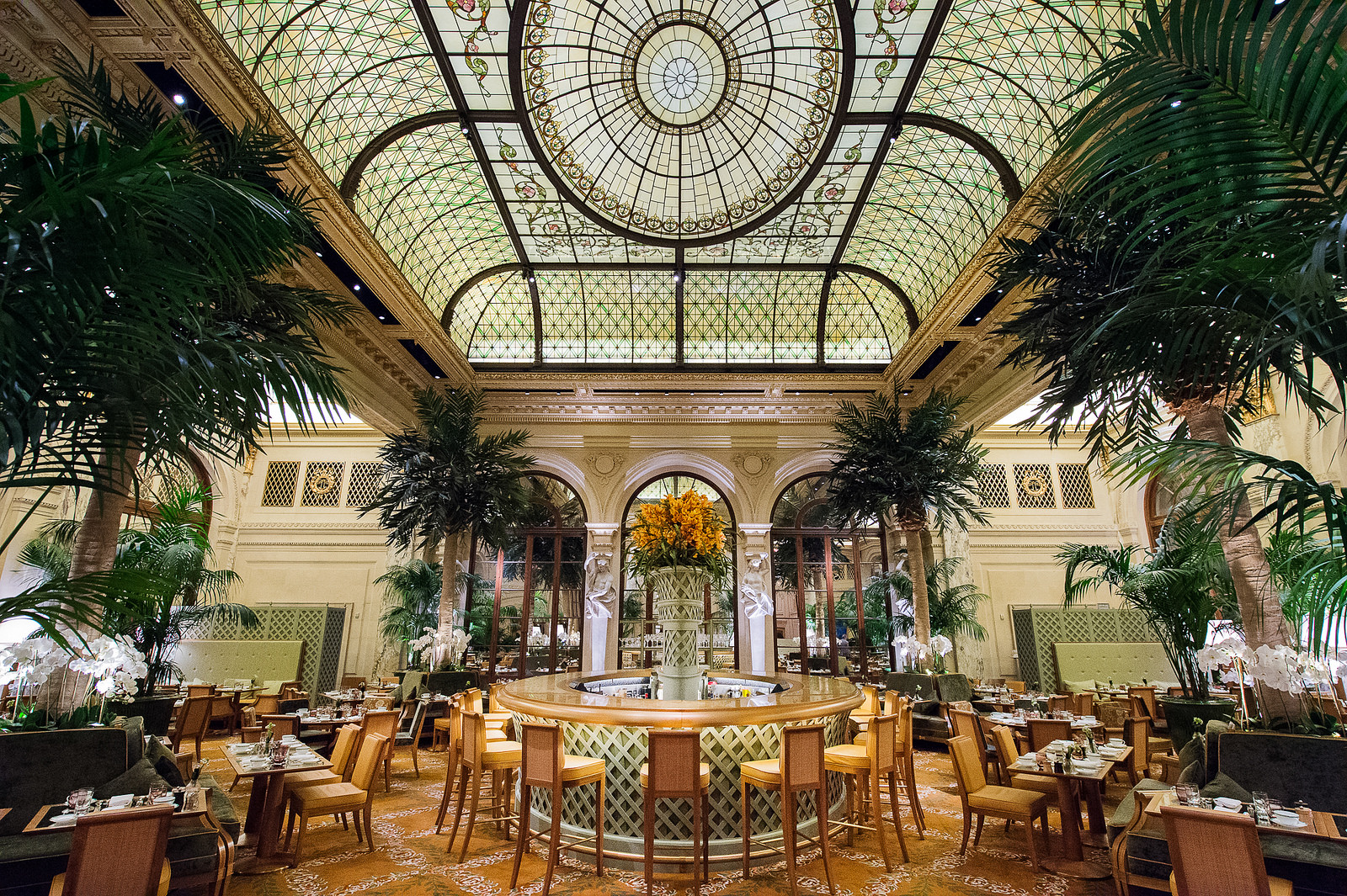 The Palm Court at The Plaza Hotel in New York