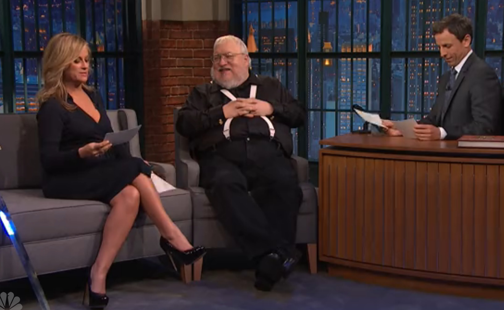 Watch Amy Poehler quiz George R.R. Martin on 'Game of Thrones' characters