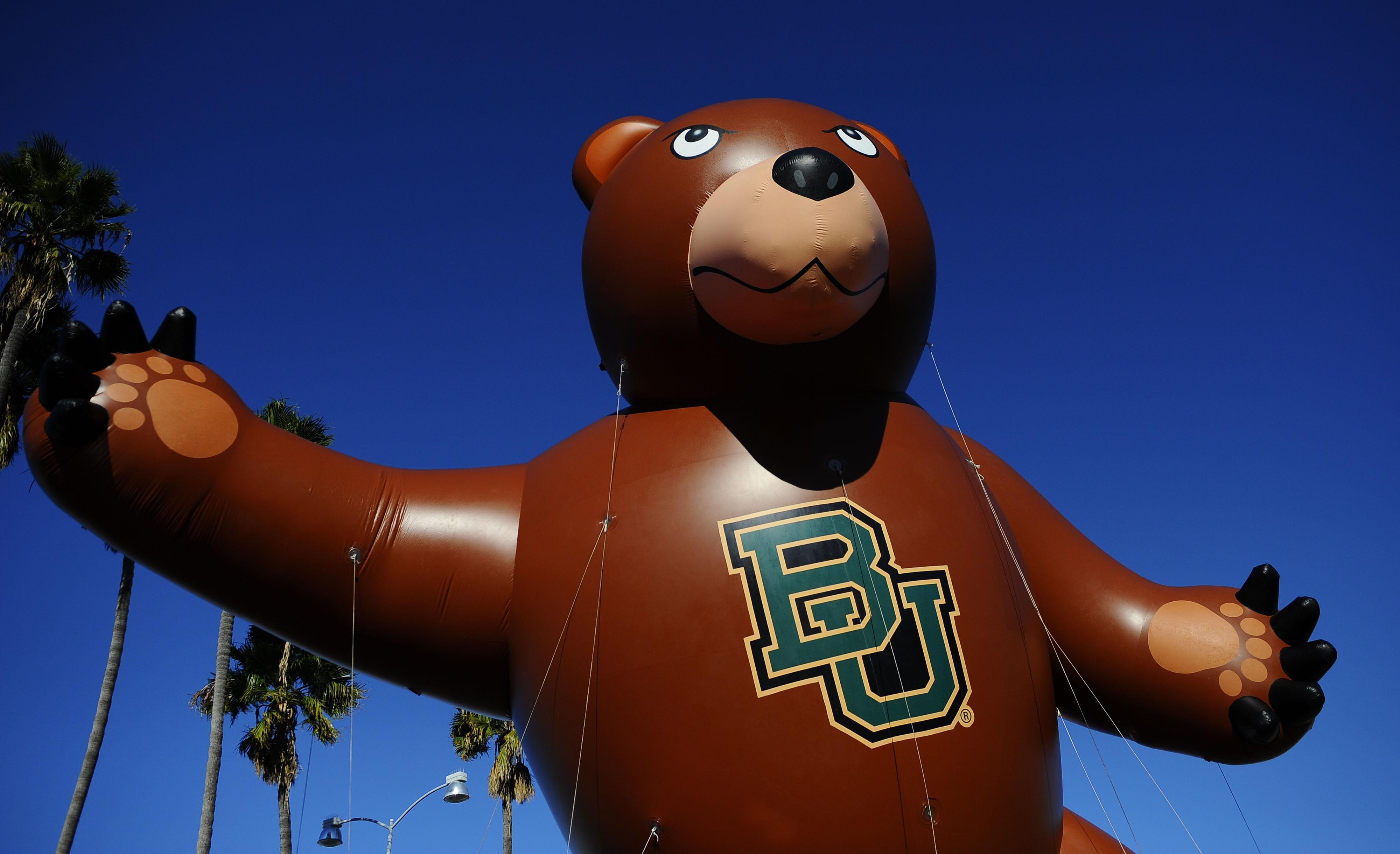 """This is not a Homecoming float, but it's the only """"Baylor Float"""" that was available."""