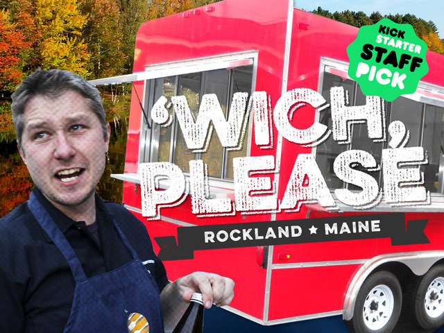 Malcolm Bedell and his future office, the 'Wich, Please truck.