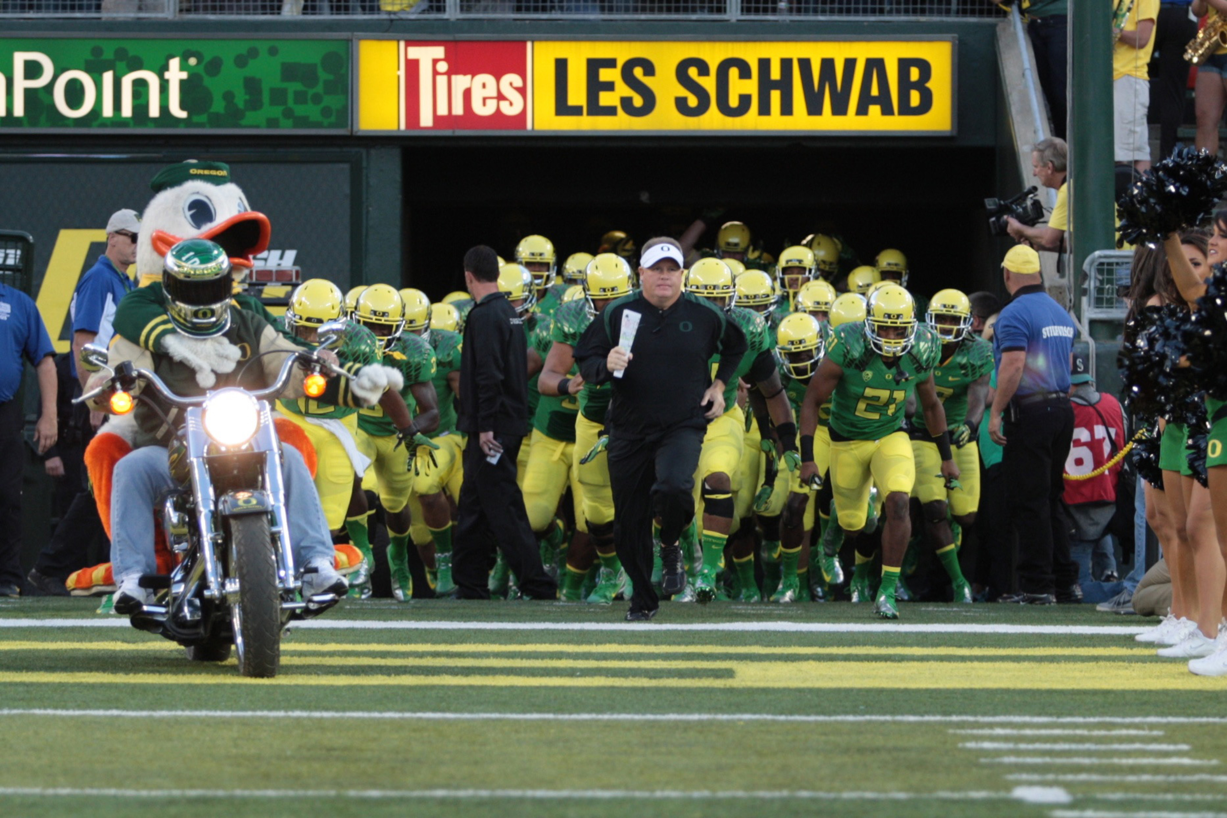 The Ducks started and ended the 2012 season ranked in the top 5
