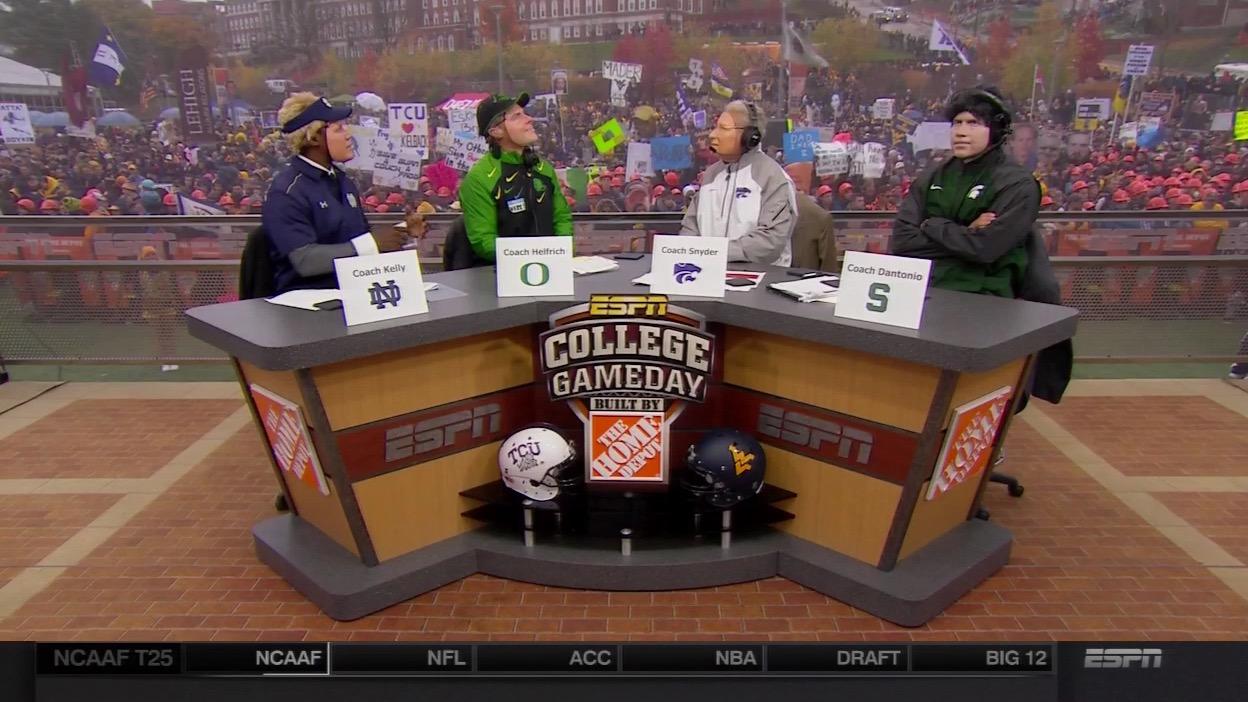 'College GameDay' dudes wore some pretty weird coach masks
