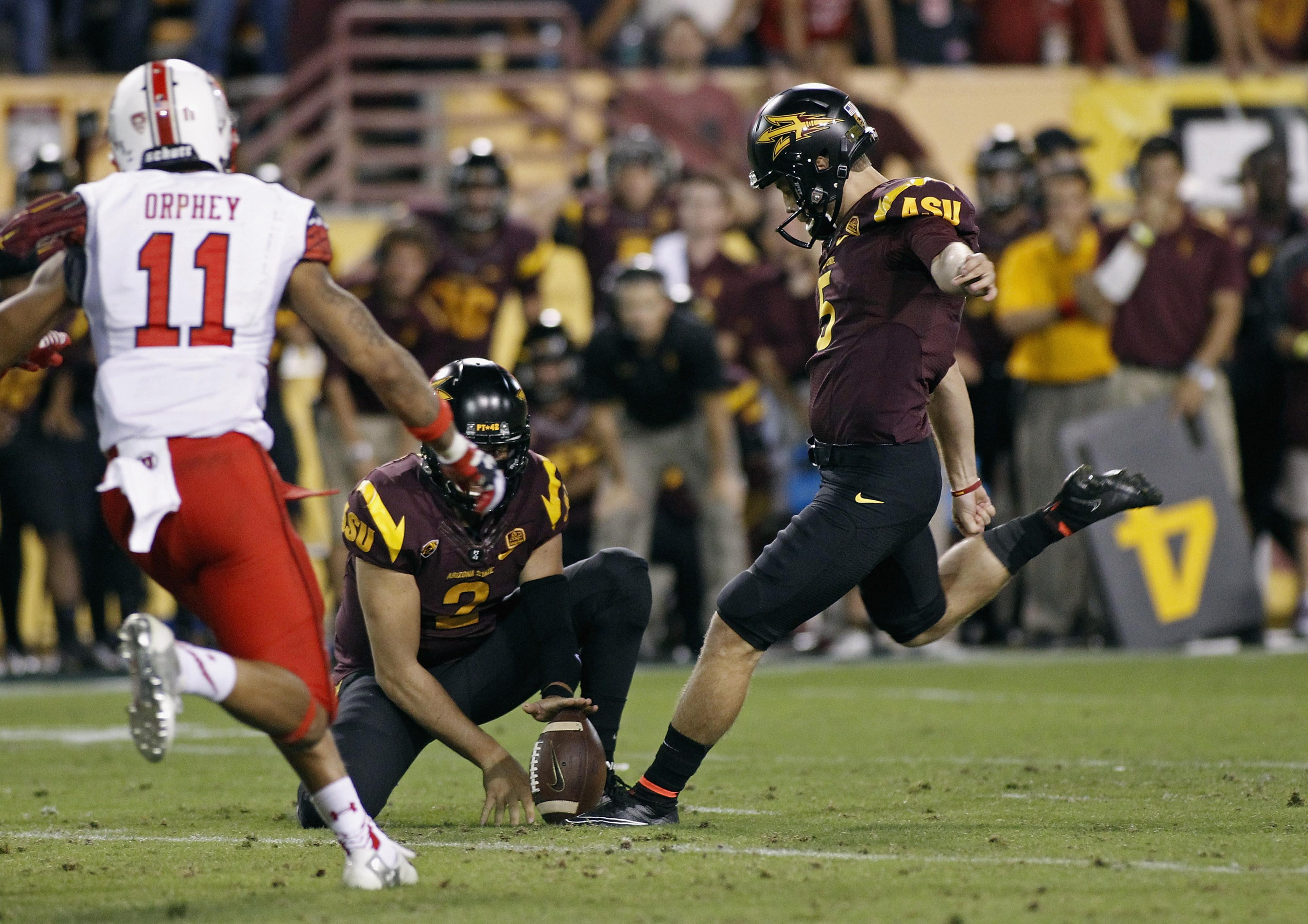 Arizona State kicker Zane Gonzalez boots the game-winning field goal from 36 yards in overtime to beat Utah.