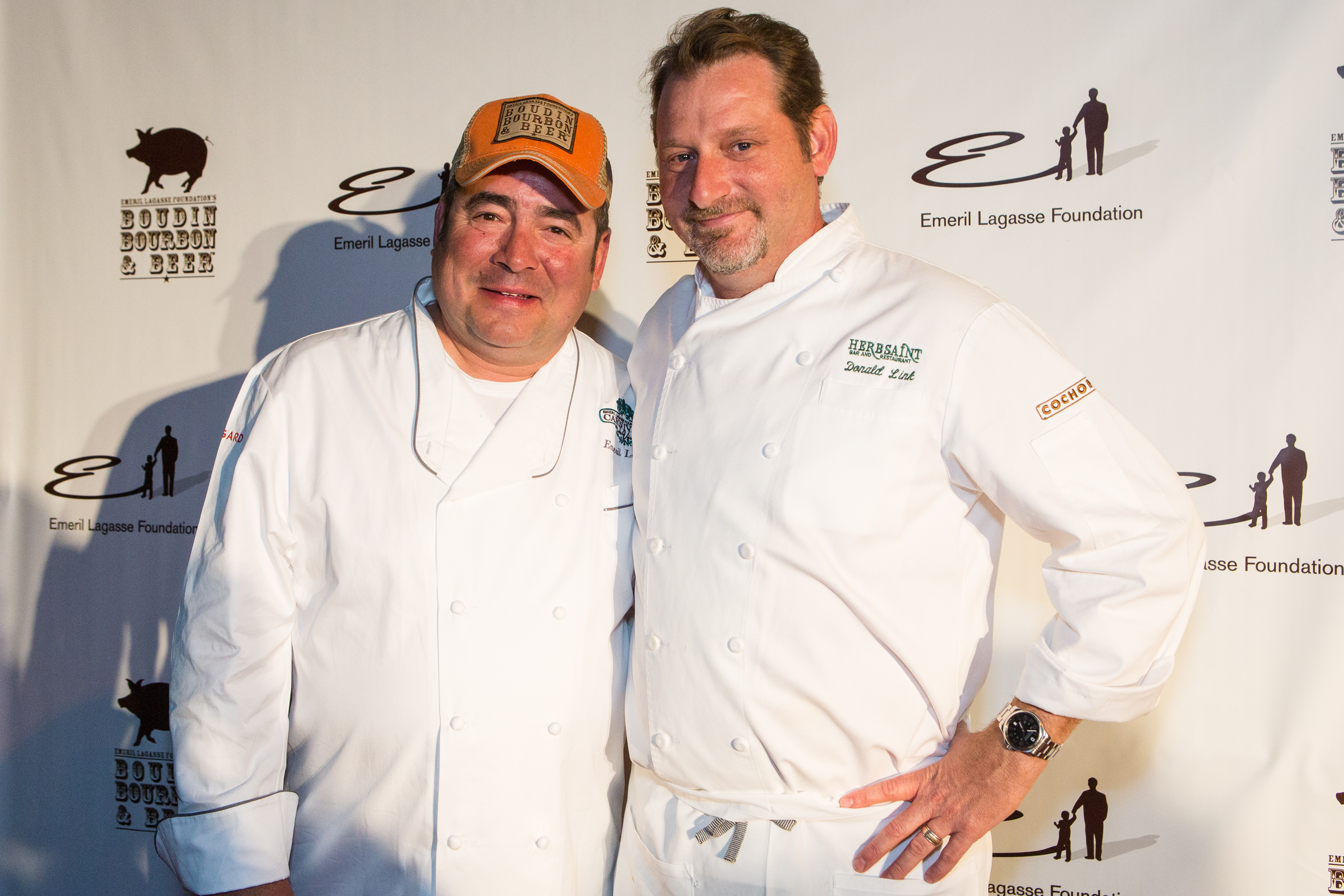 Emeril Lagasse and Donald Link at Boudin Bourbon & Beer 2013