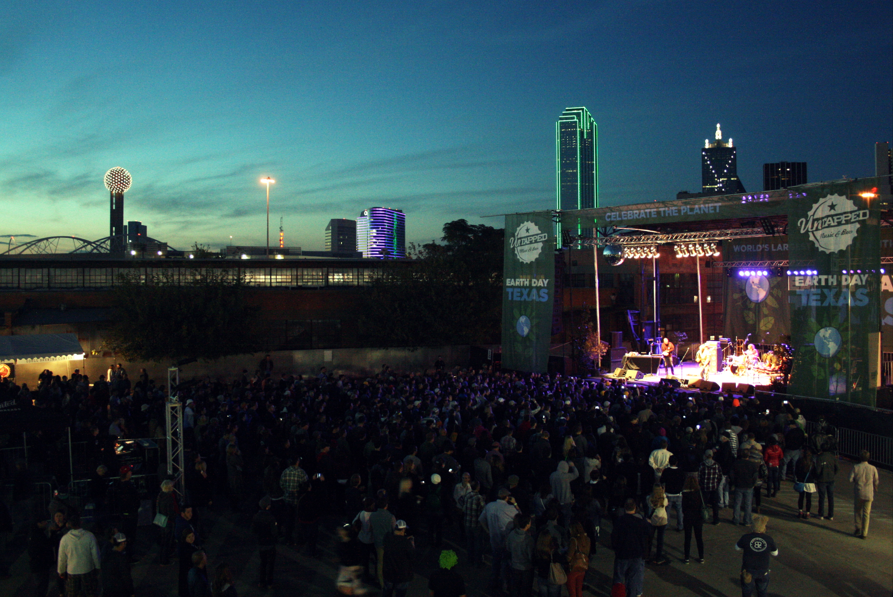 The crowd at Saturday's Untapped Festival.