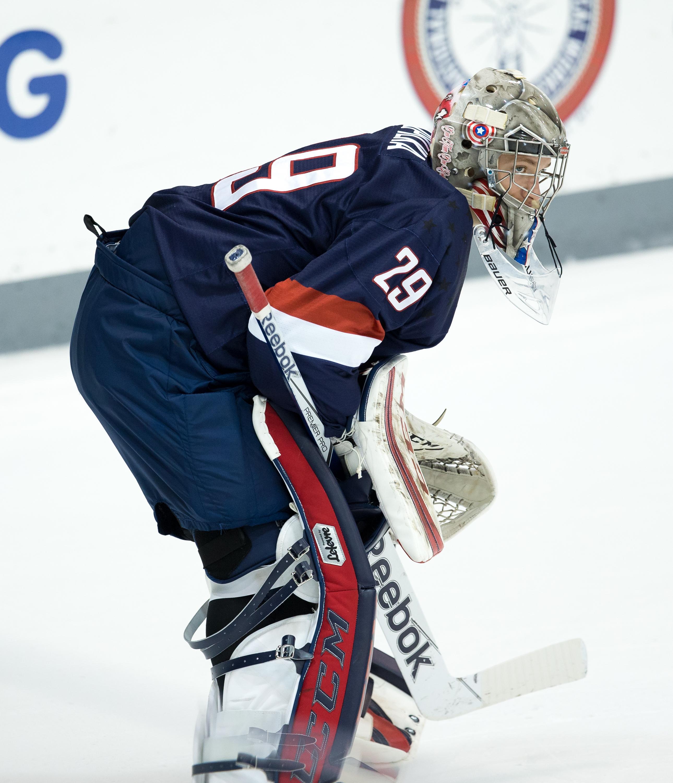 2015 goaltender recruit Luke Opilka has played very strong this season for the U.S. U18 team