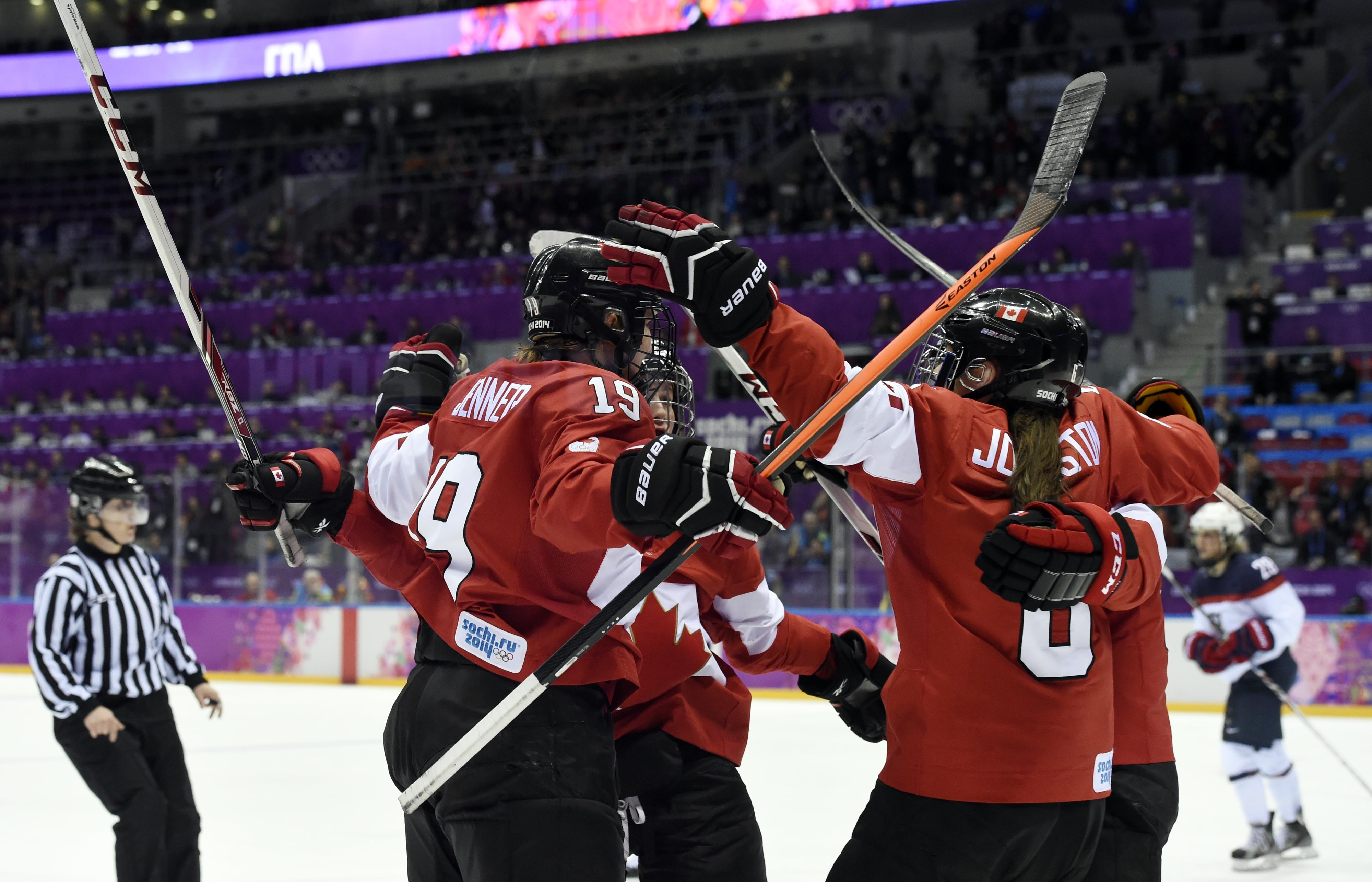 Last game between Canada and the US in Sochi, Russia