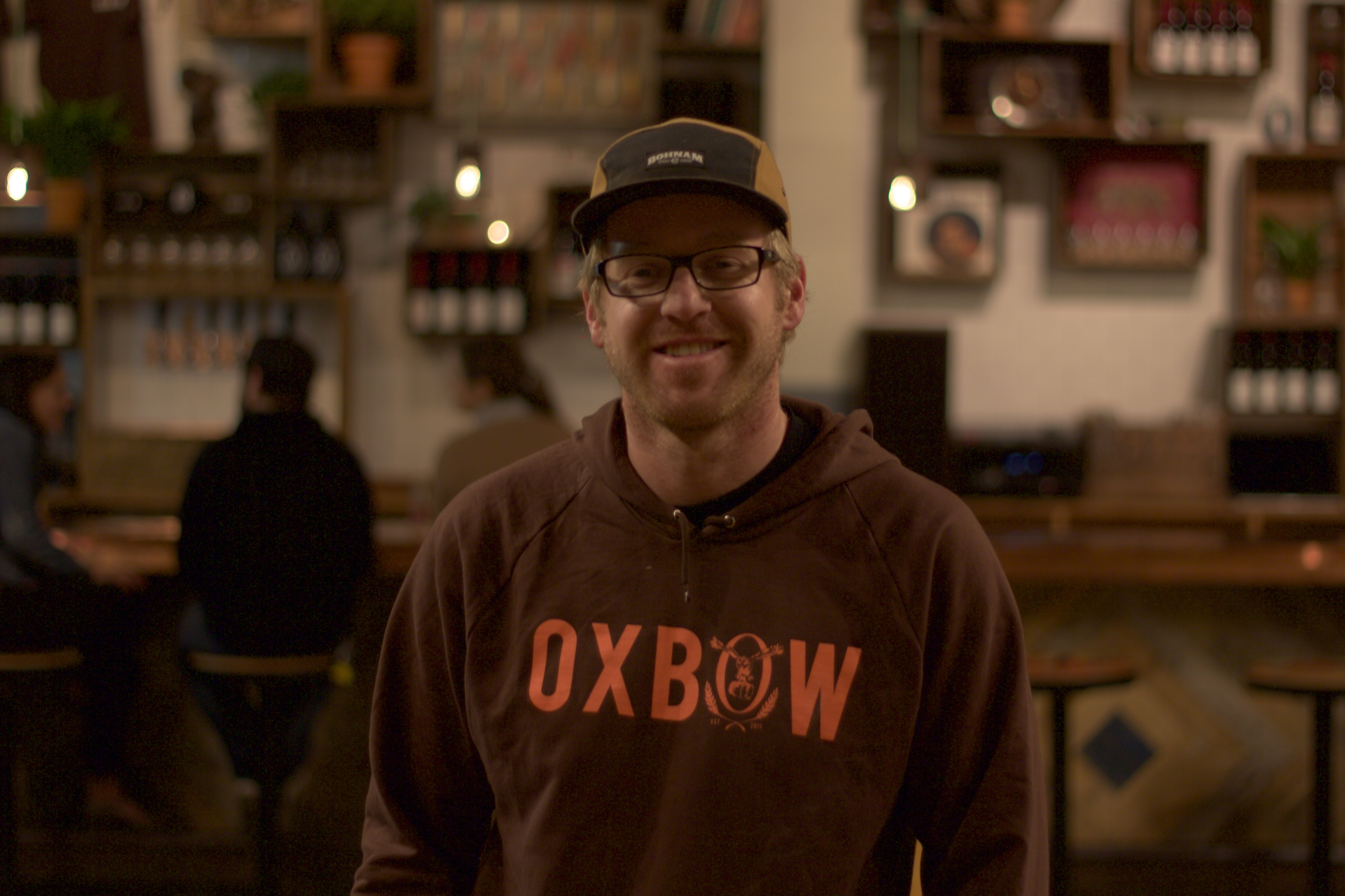 Tim Adams, co-owner, head brewer, and master blender of Oxbow Brewing Company.