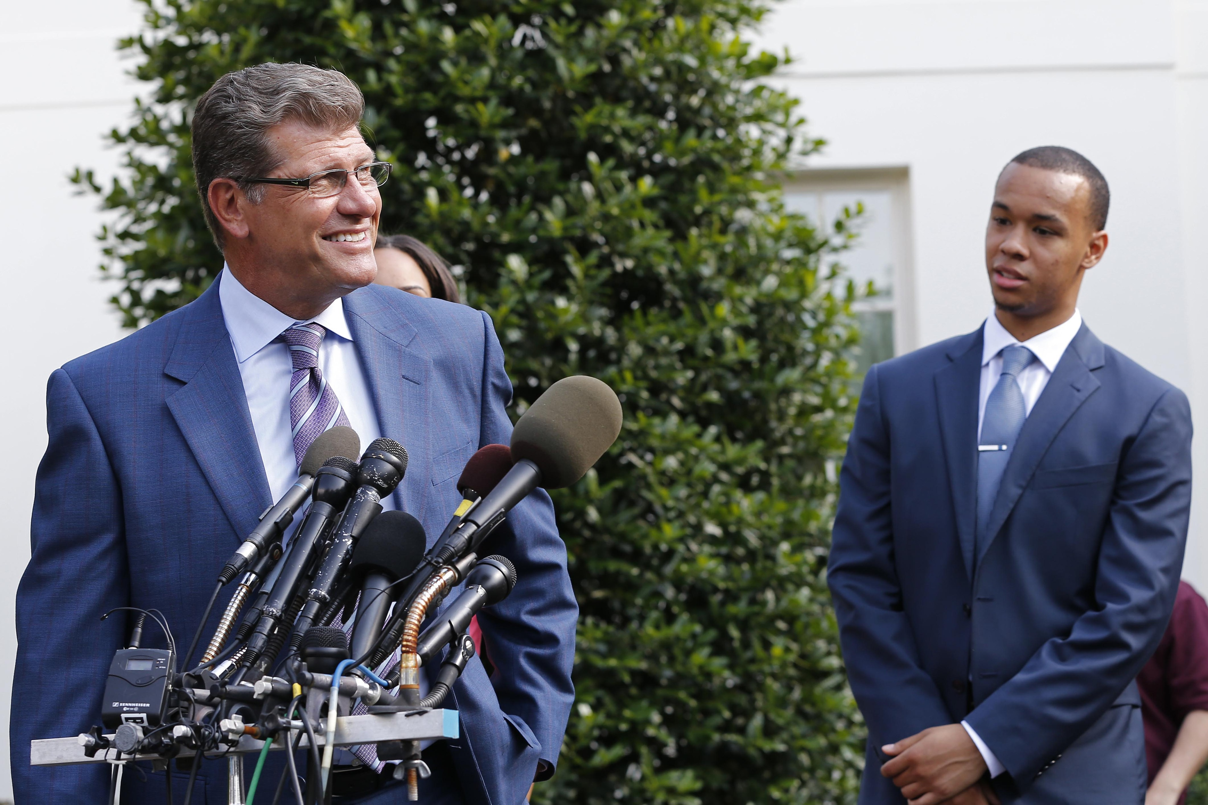 A successful college season ends with a trip to the White House. But can UConn's Geno Auriemma go for a three-peat this season?
