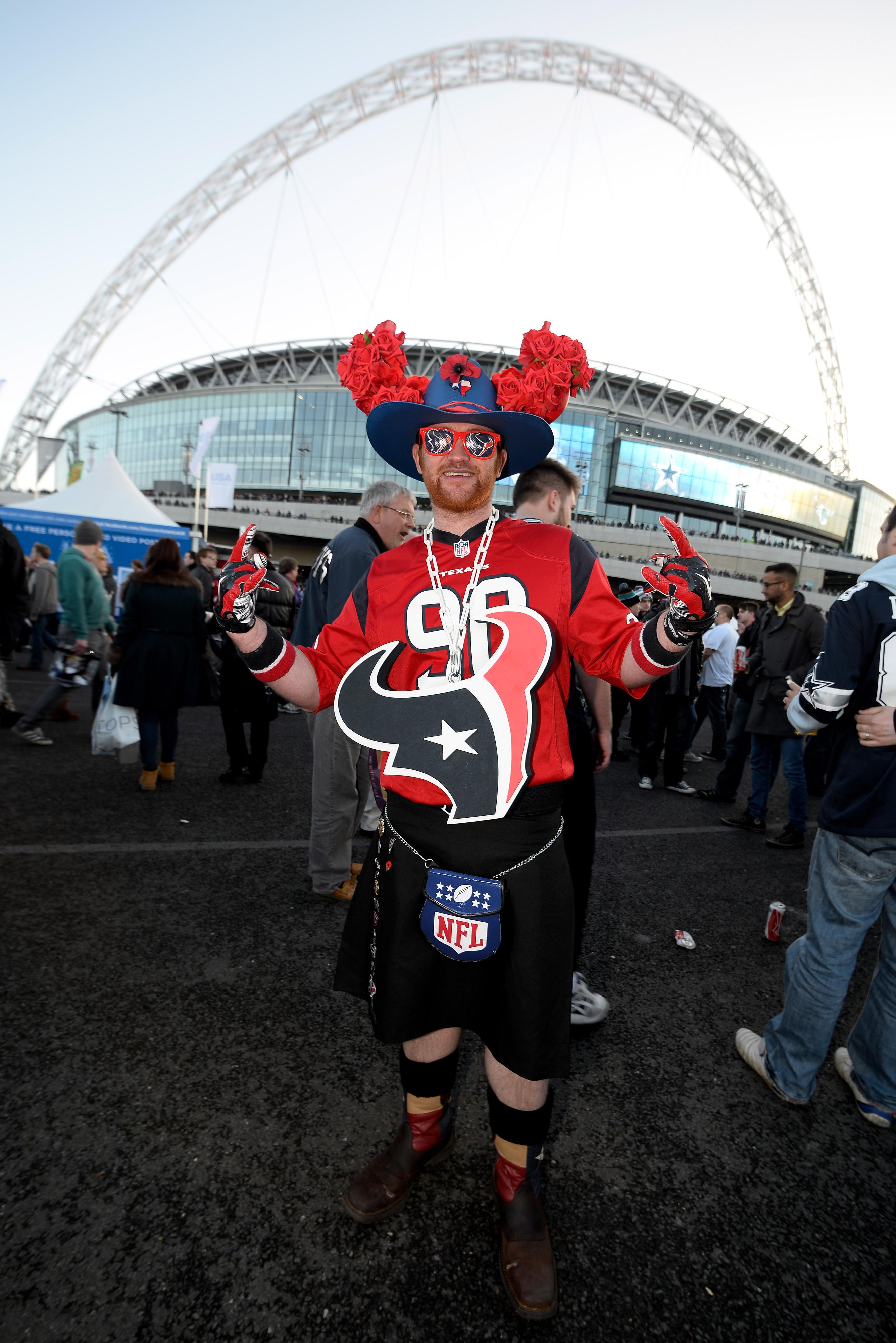 A Texans' fan in London!