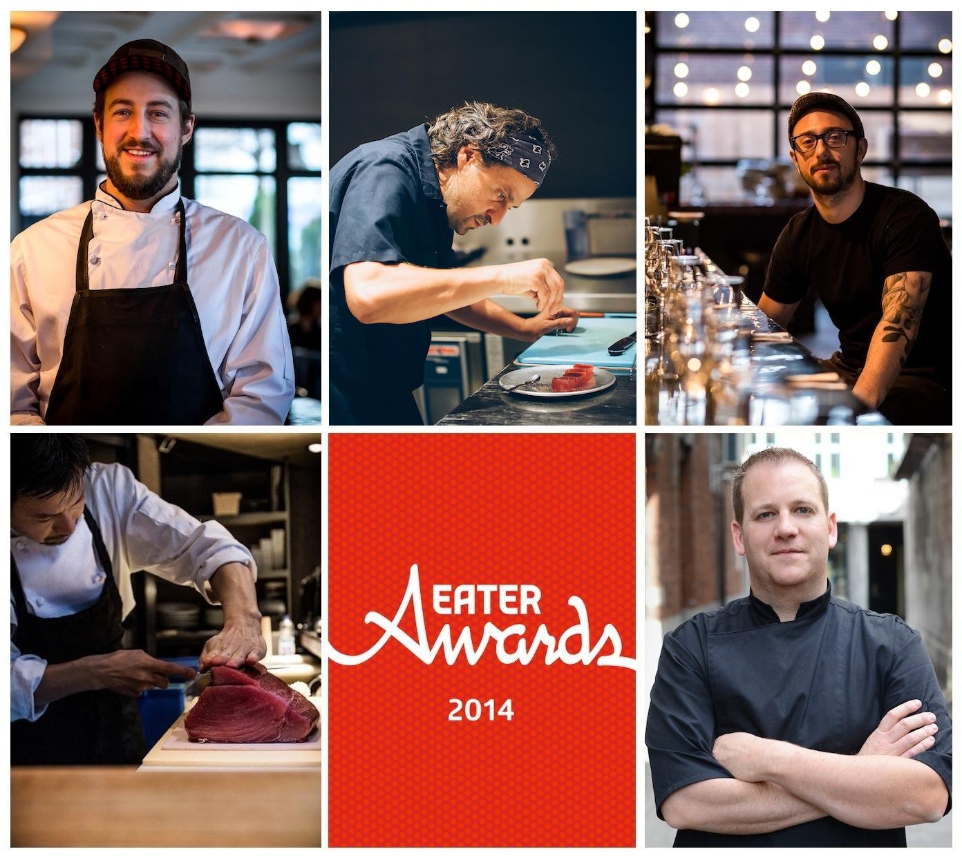 Clockwise from top left: Brian Peters, Joe Mercuri, Chris Parasiuk, Cédric Deslandes, Shinji Nagai