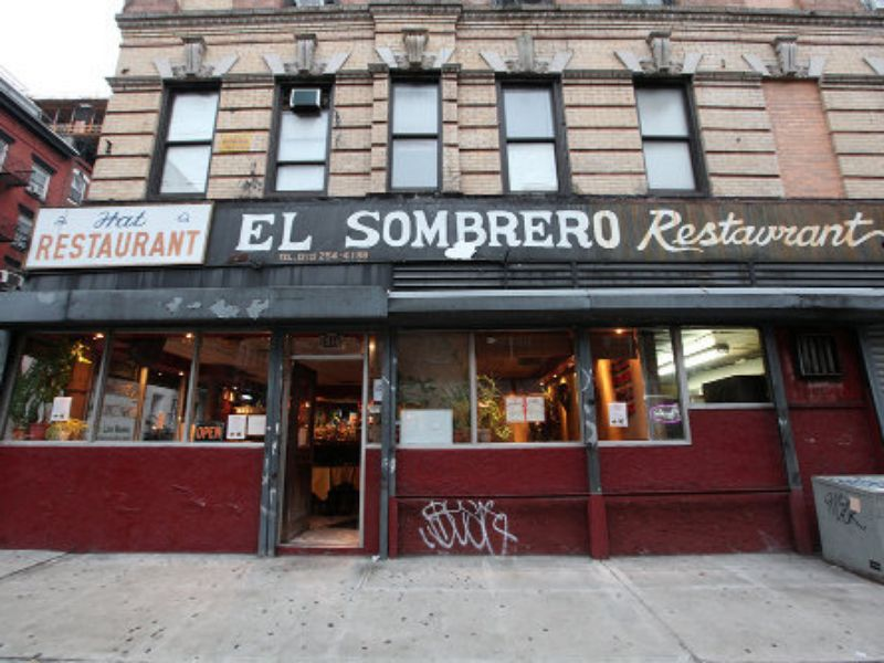 El Sombrero's old signage is now part of the bar.