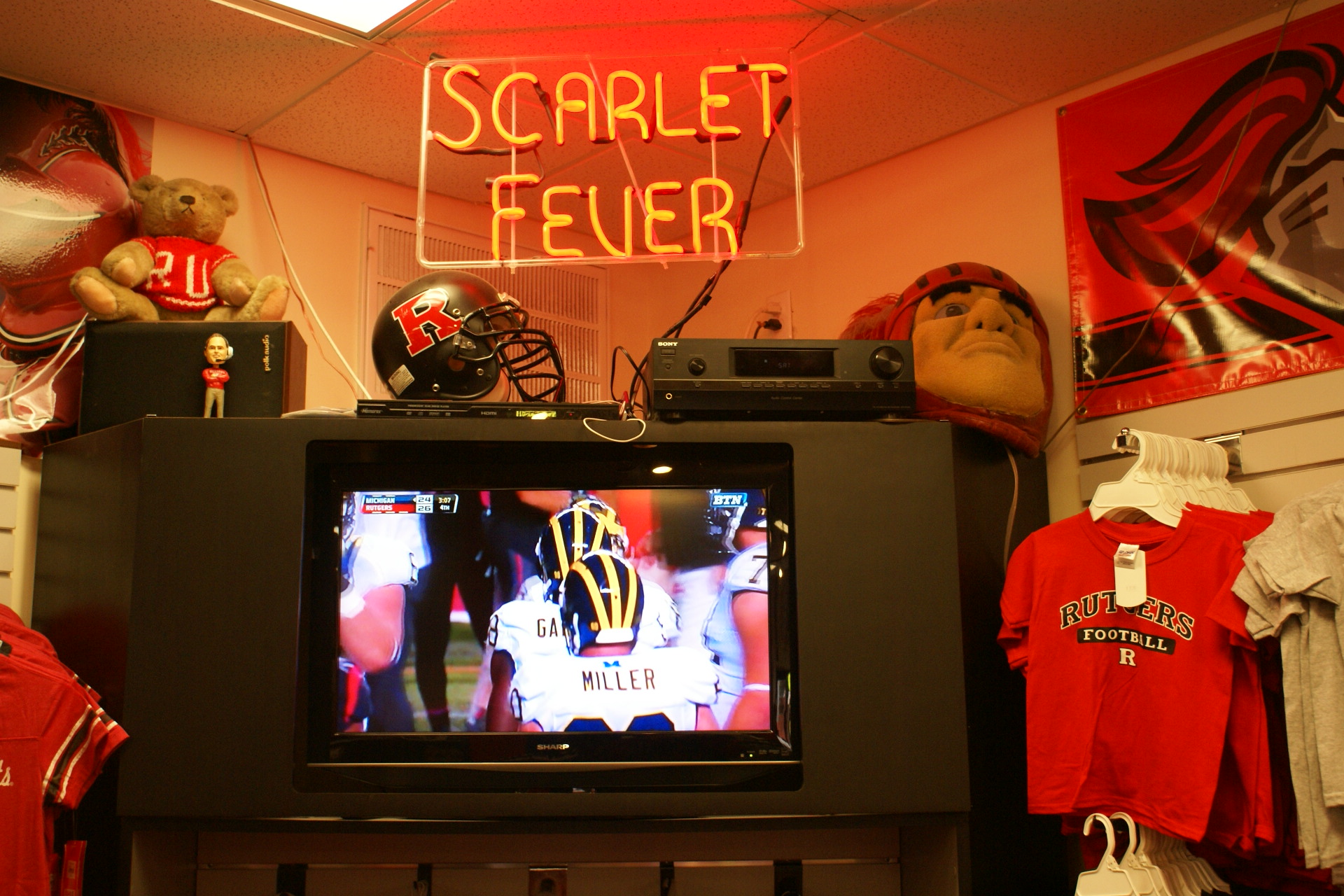 There's always a game on at Scarlet Fever....and Rutgers usually wins!