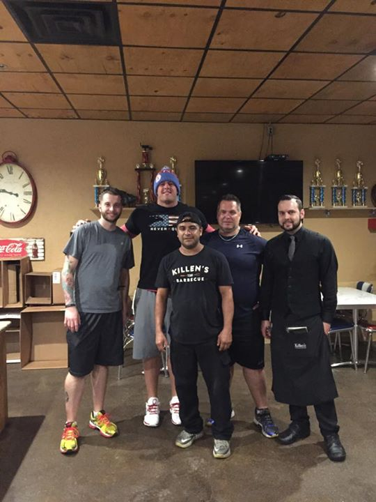 Patrick Feges (l), JJ Watt (center) and Ronnie Killen (r)